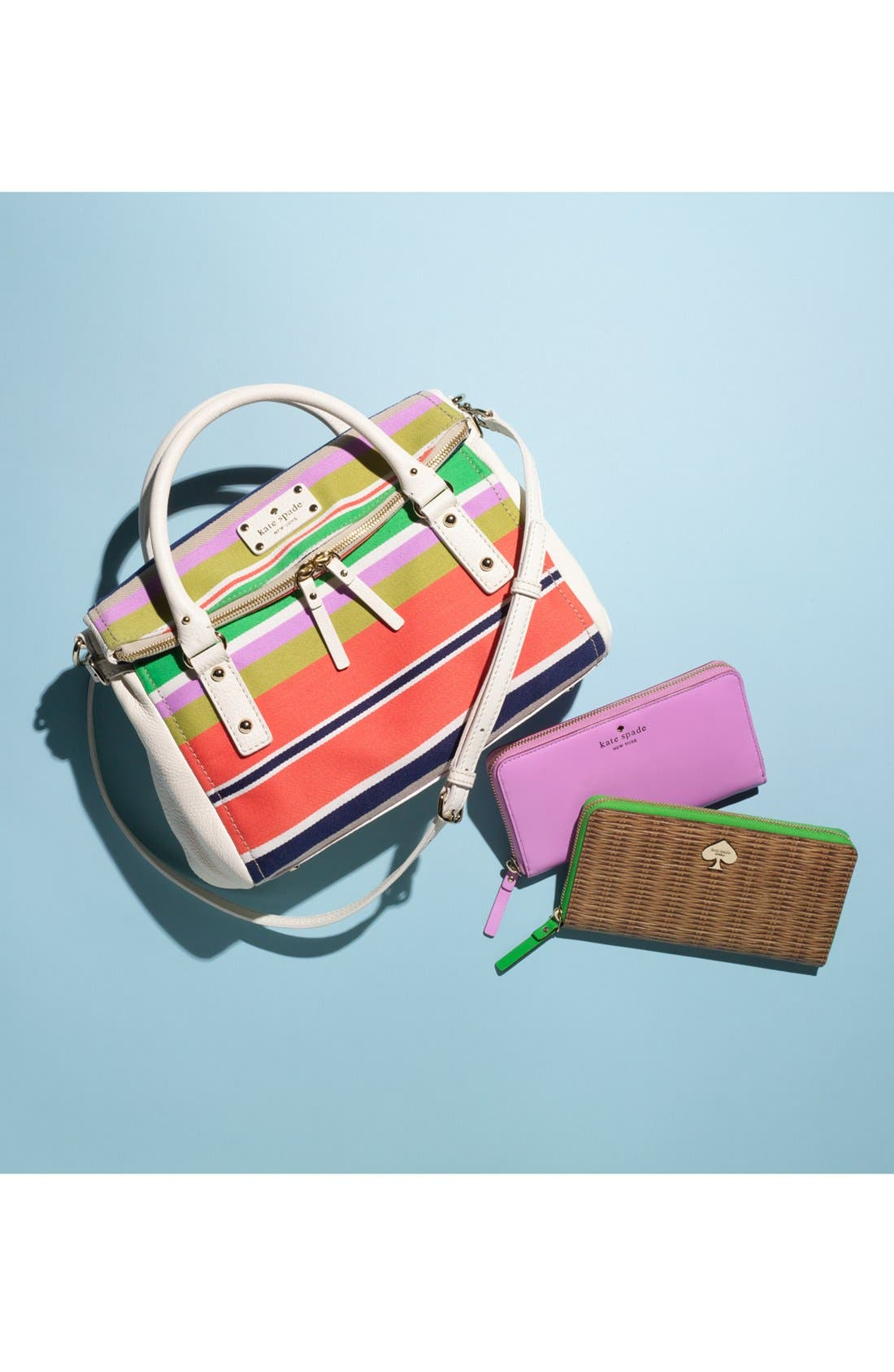 Alternate Image 5  - kate spade new york 'cobble hill stripe - small leslie' satchel
