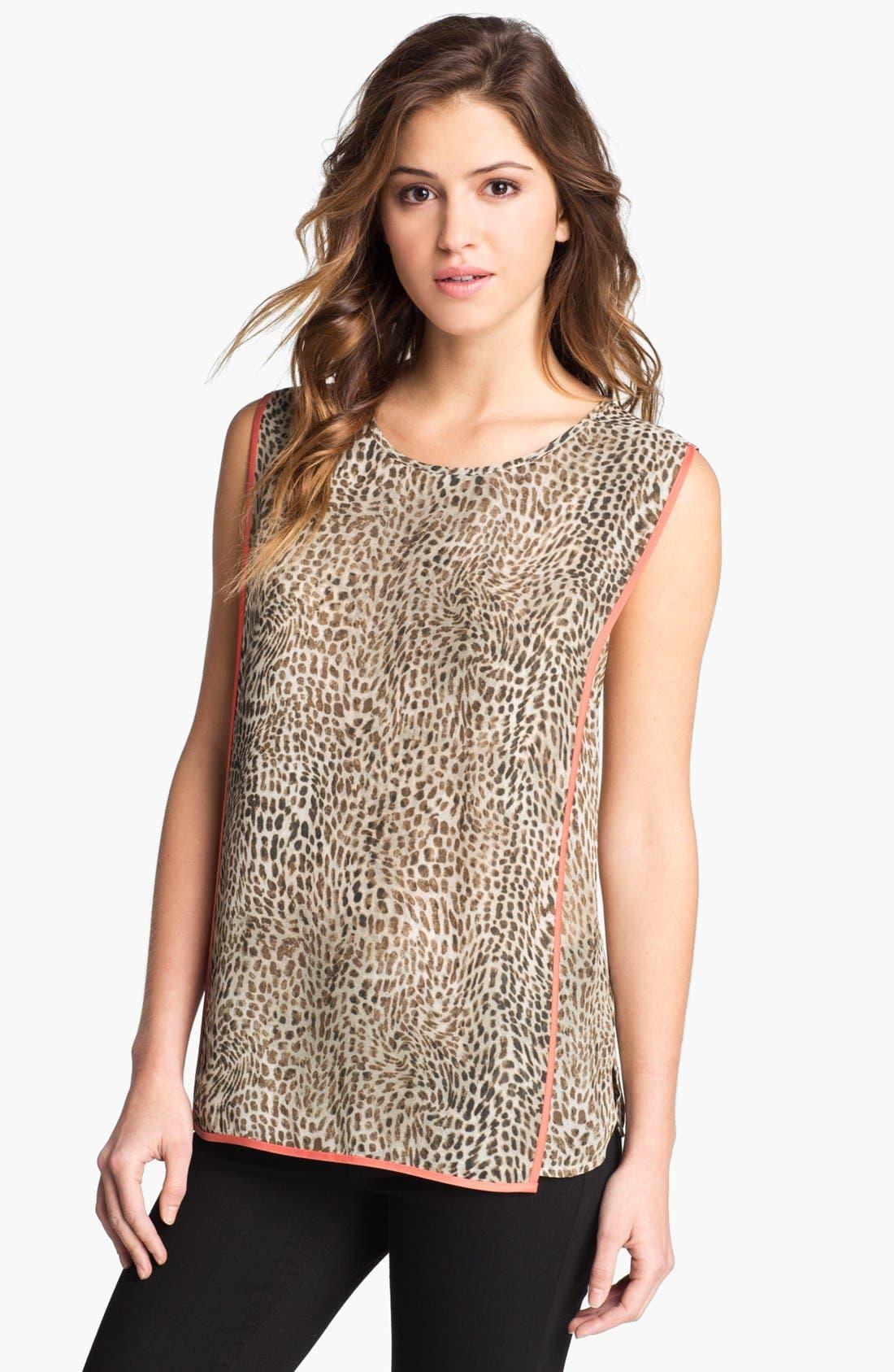 Main Image - Vince Camuto Cheetah Print Blouse