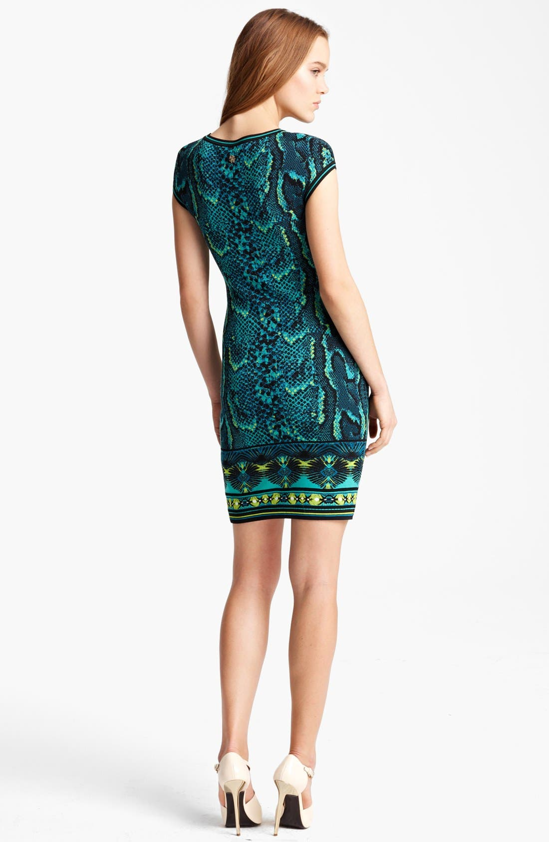 Alternate Image 2  - Roberto Cavalli Cap Sleeve Snake Print Dress