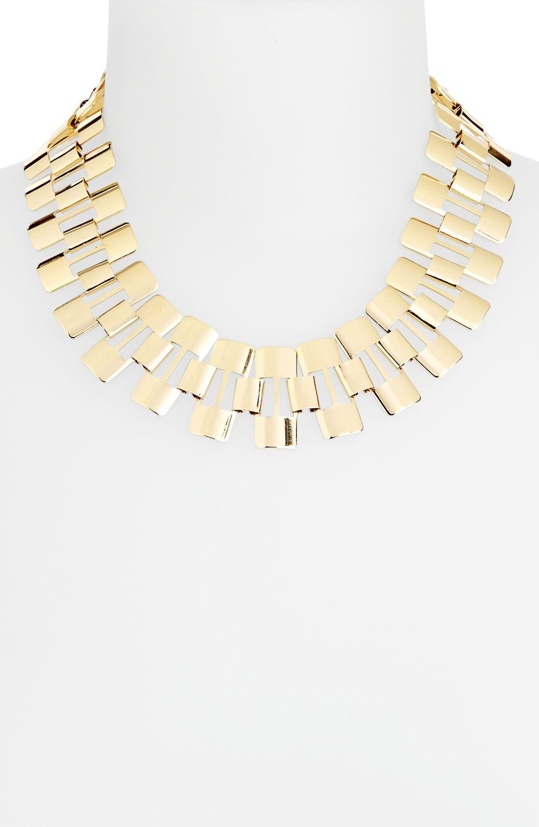 Main Image - Topshop 'Track' Metal Collar Necklace