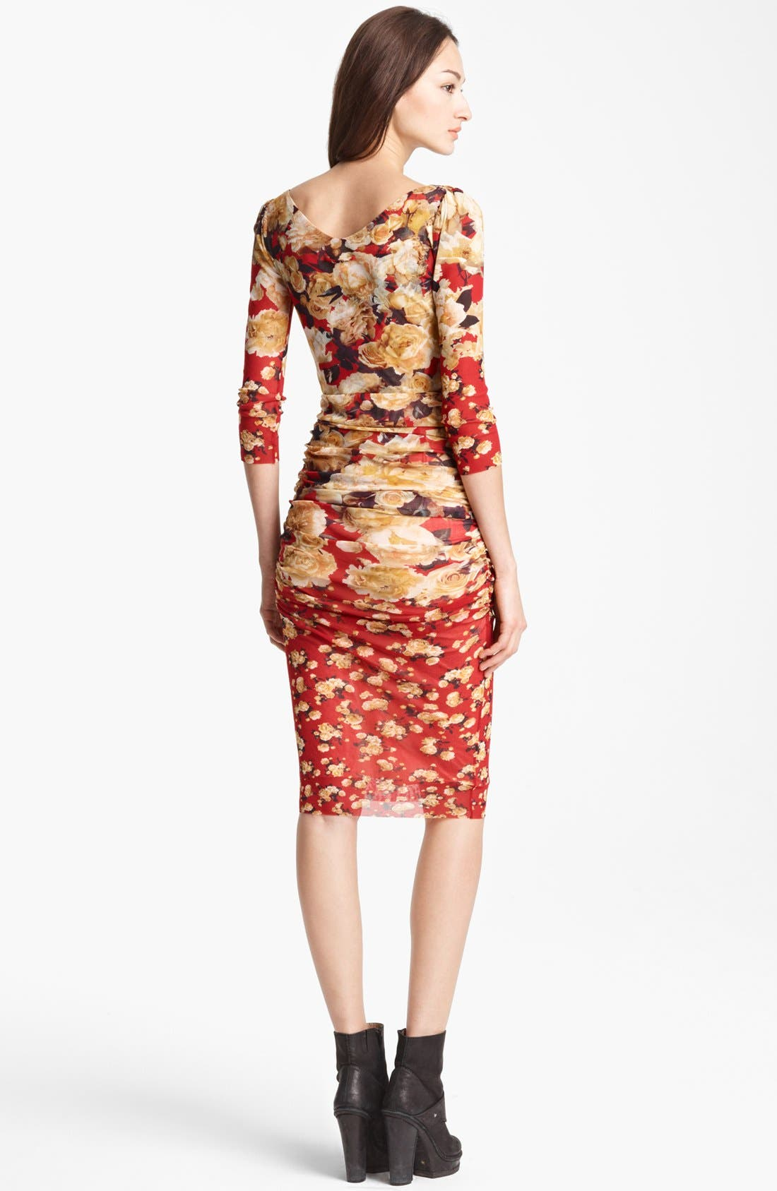 Alternate Image 2  - Jean Paul Gaultier Fuzzi Rose Print Ruched Dress