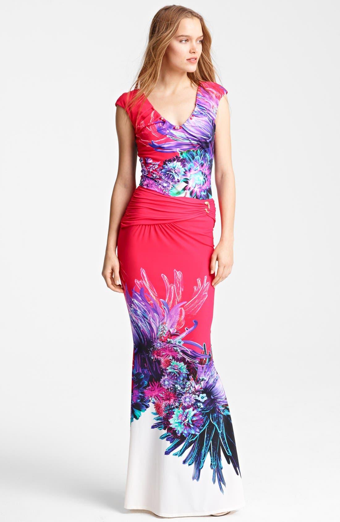 Alternate Image 3  - Roberto Cavalli 'Amber Print' Long Skirt