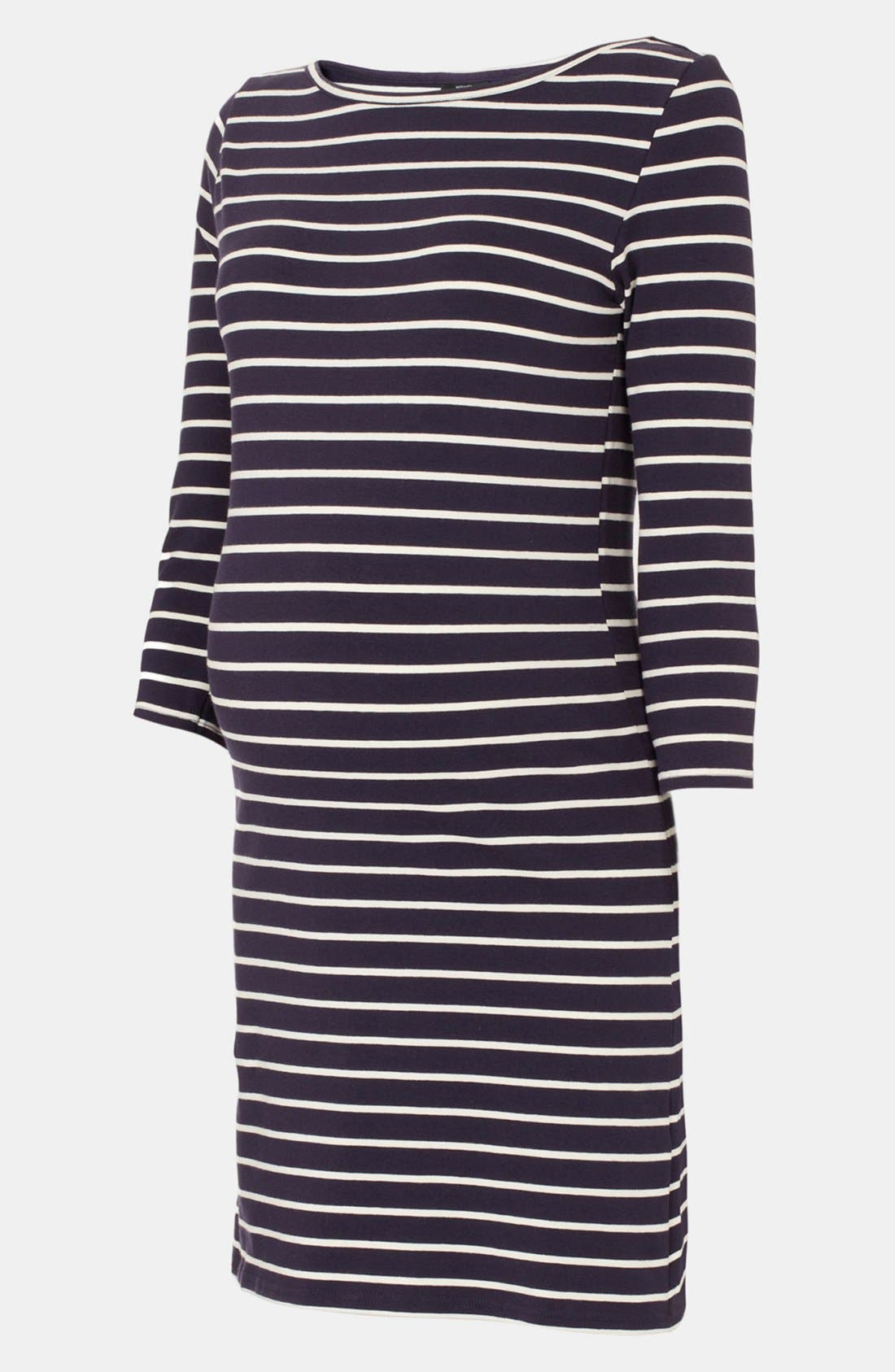Alternate Image 1 Selected - Topshop Stripe Maternity Tunic Dress