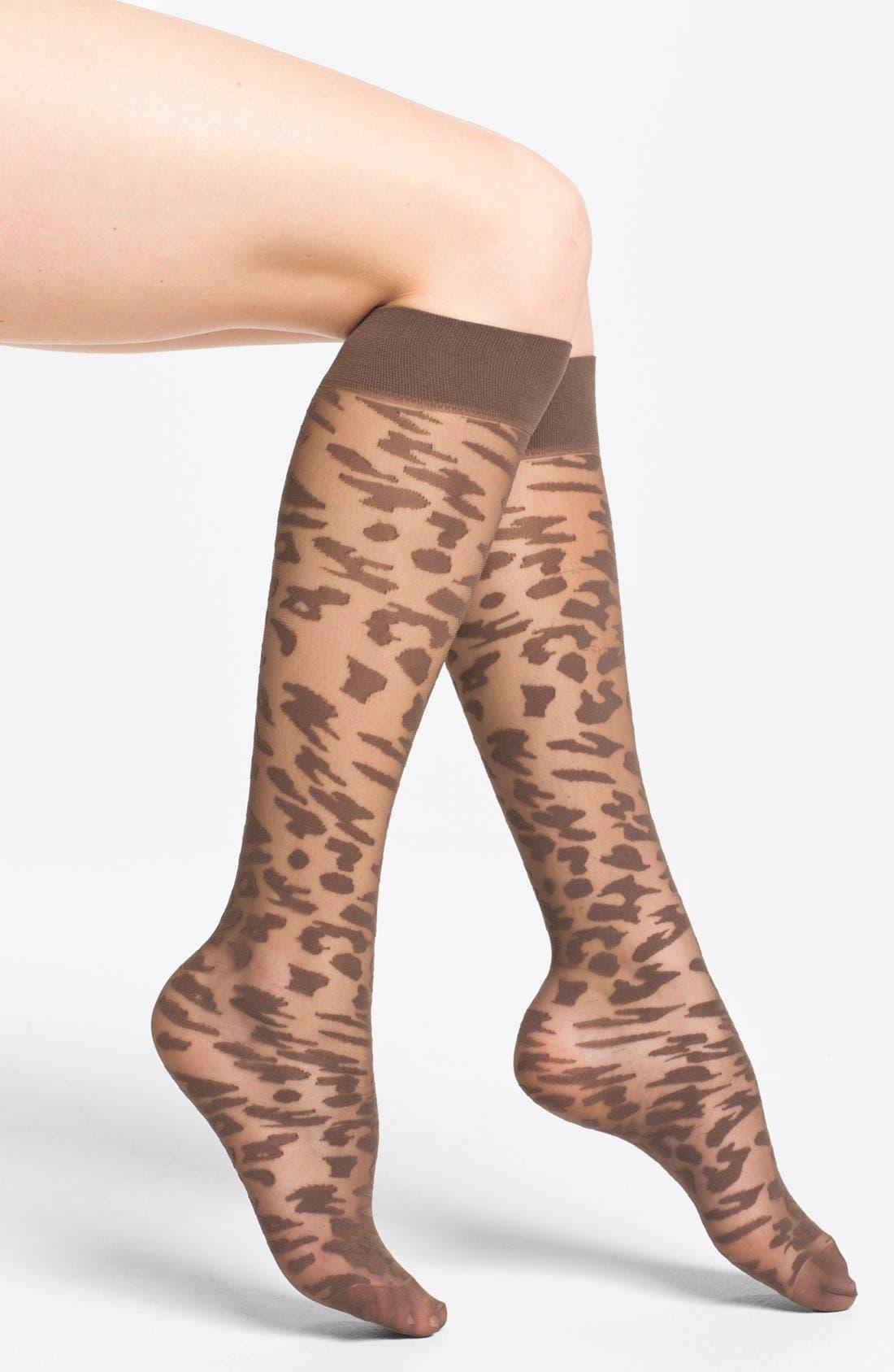 Alternate Image 1 Selected - Nordstrom 'Animal Instincts' Trouser Socks