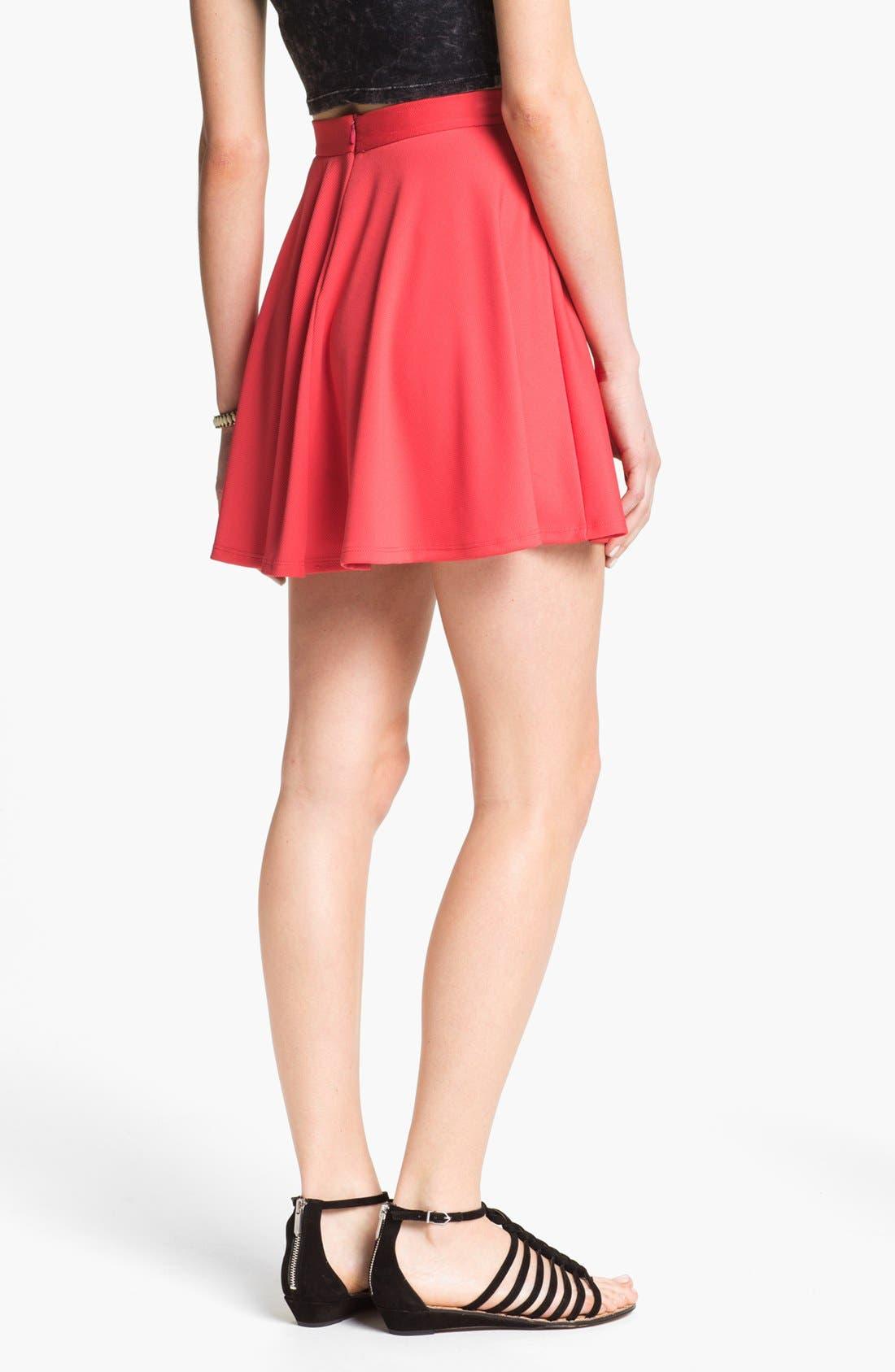 Alternate Image 2  - Lush Skater Skirt (Juniors)