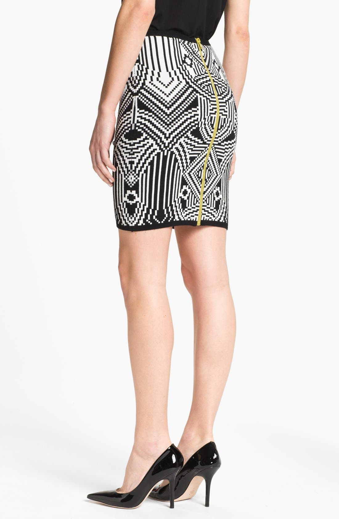 Alternate Image 2  - Nicole Miller Jacquard Pencil Skirt
