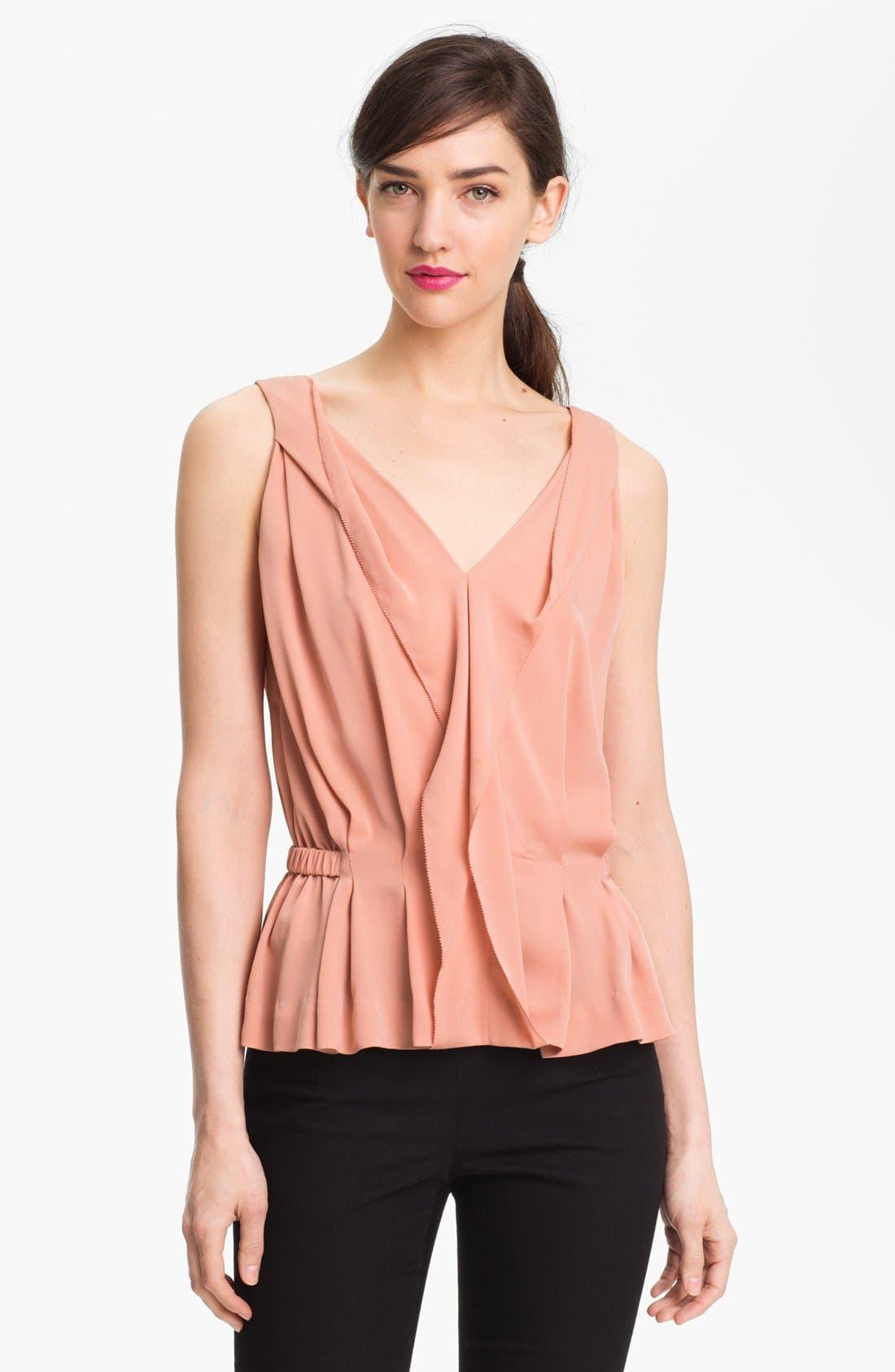 Alternate Image 1 Selected - Diane von Furstenberg 'Bahar' Stretch Silk Top
