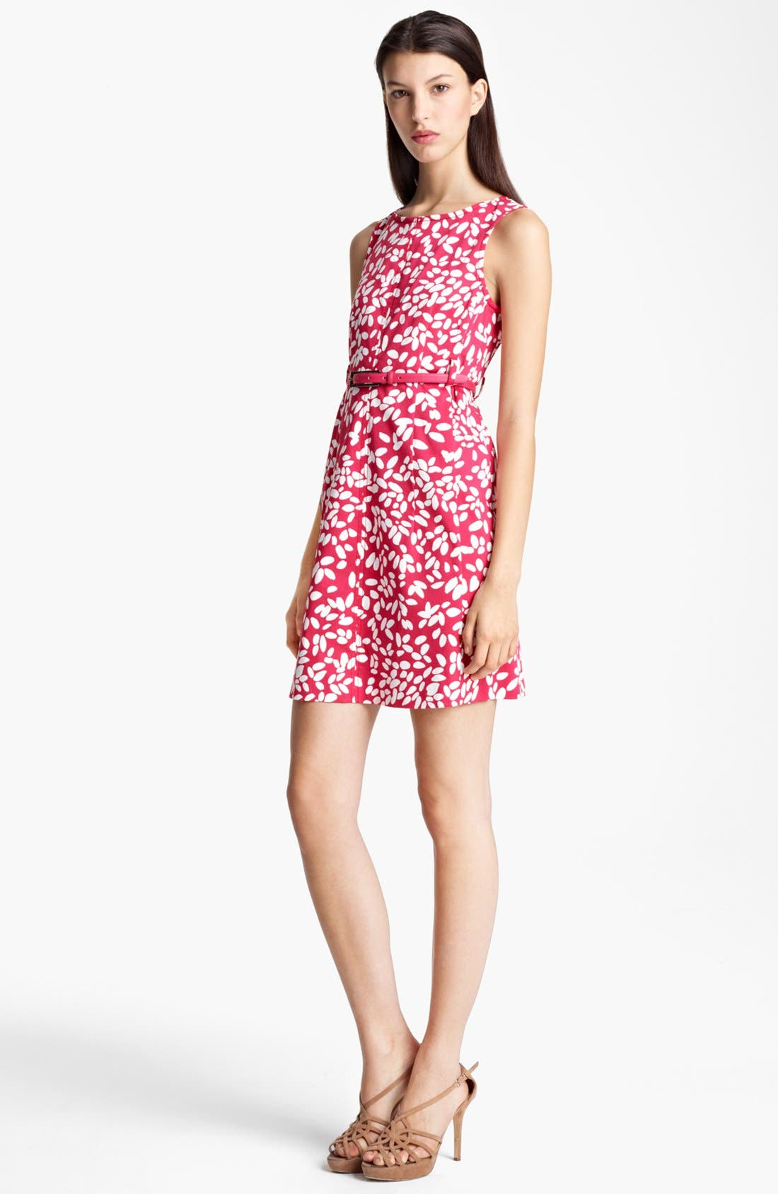 Main Image - Armani Collezioni Belted Print Dress