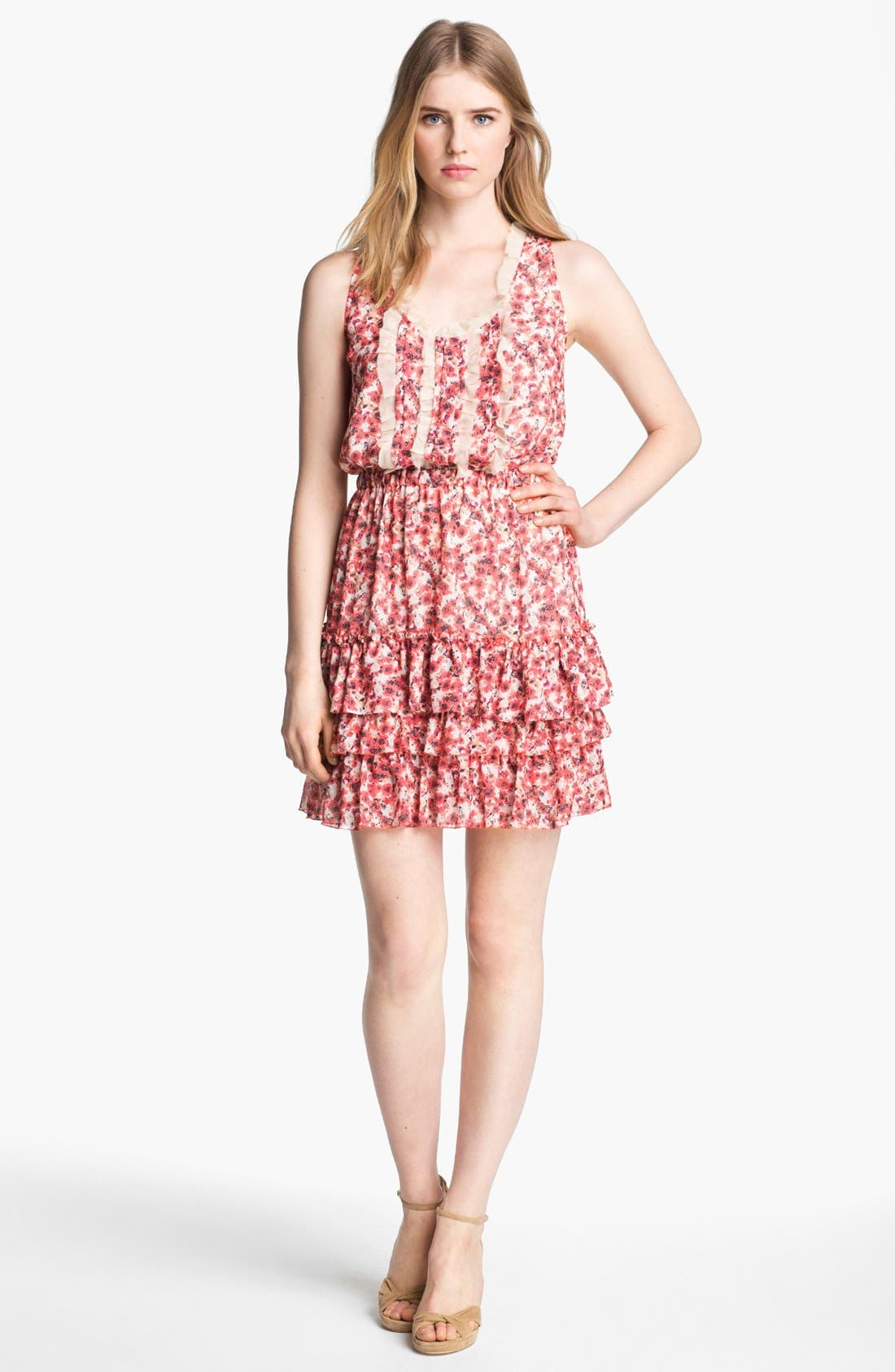 Main Image - Mcginn 'Annie' Tiered Floral Print Dress