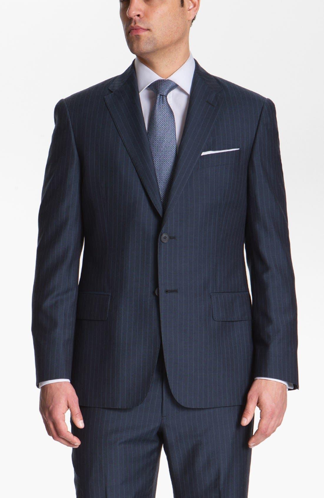 Alternate Image 4  - Joseph Abboud 'Platinum' Stripe Wool Suit