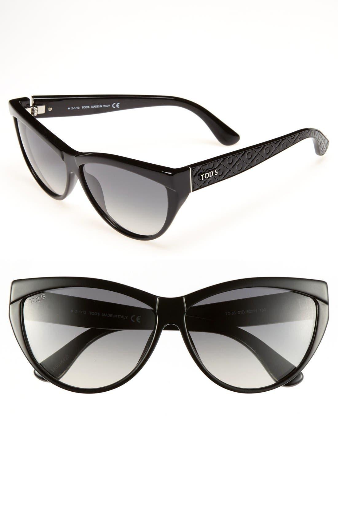 Alternate Image 1 Selected - Tod's 62mm Cat's Eye Sunglasses