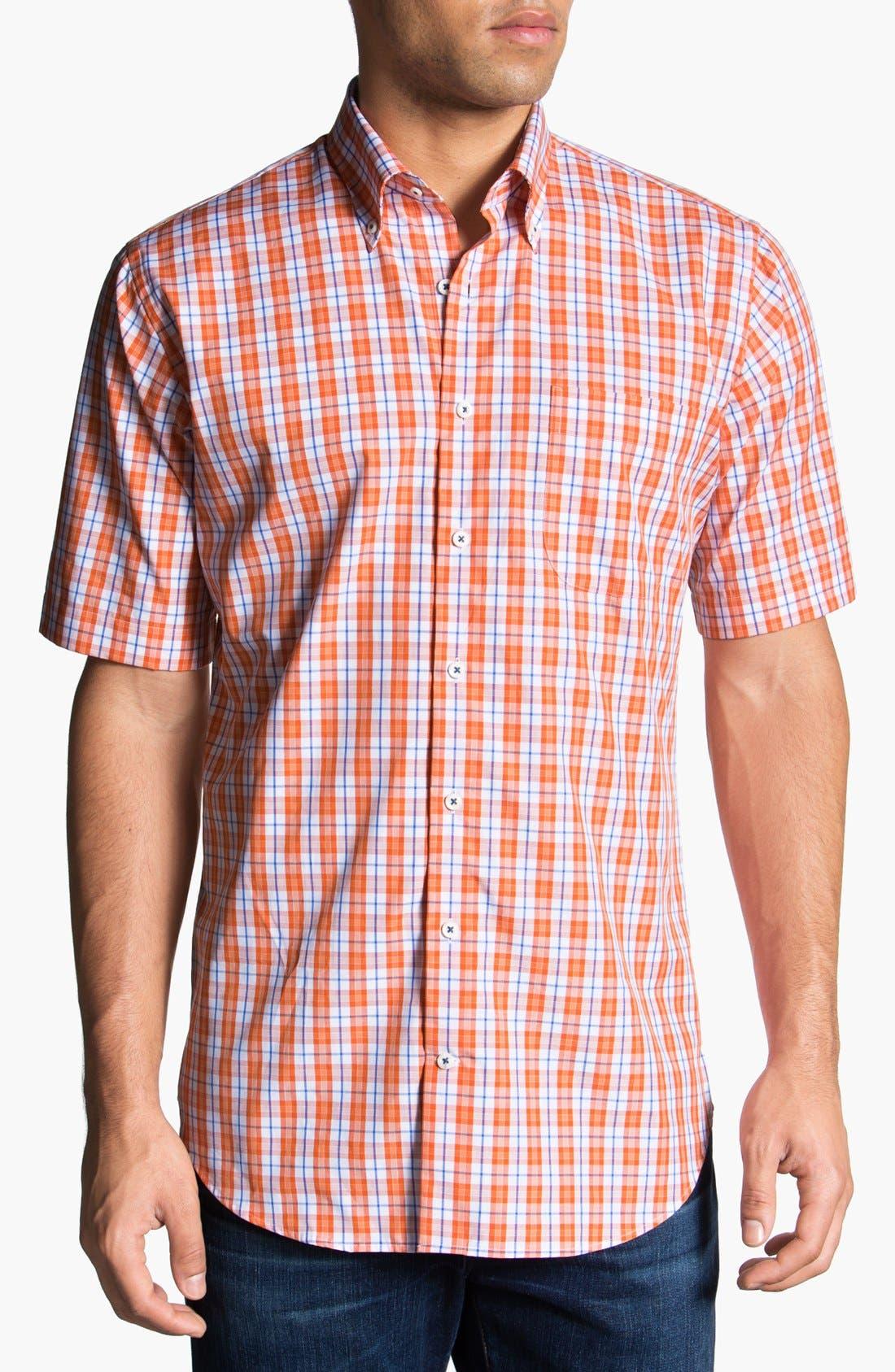 Alternate Image 1 Selected - Peter Millar 'Copenhagen' Regular Fit Check Sport Shirt.