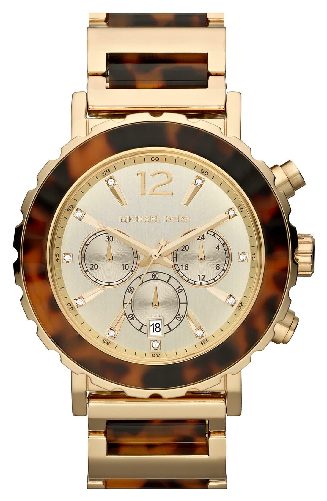 Alternate Image 1 Selected - Michael Kors 'Lille' Chronograph Bracelet Watch, 45mm