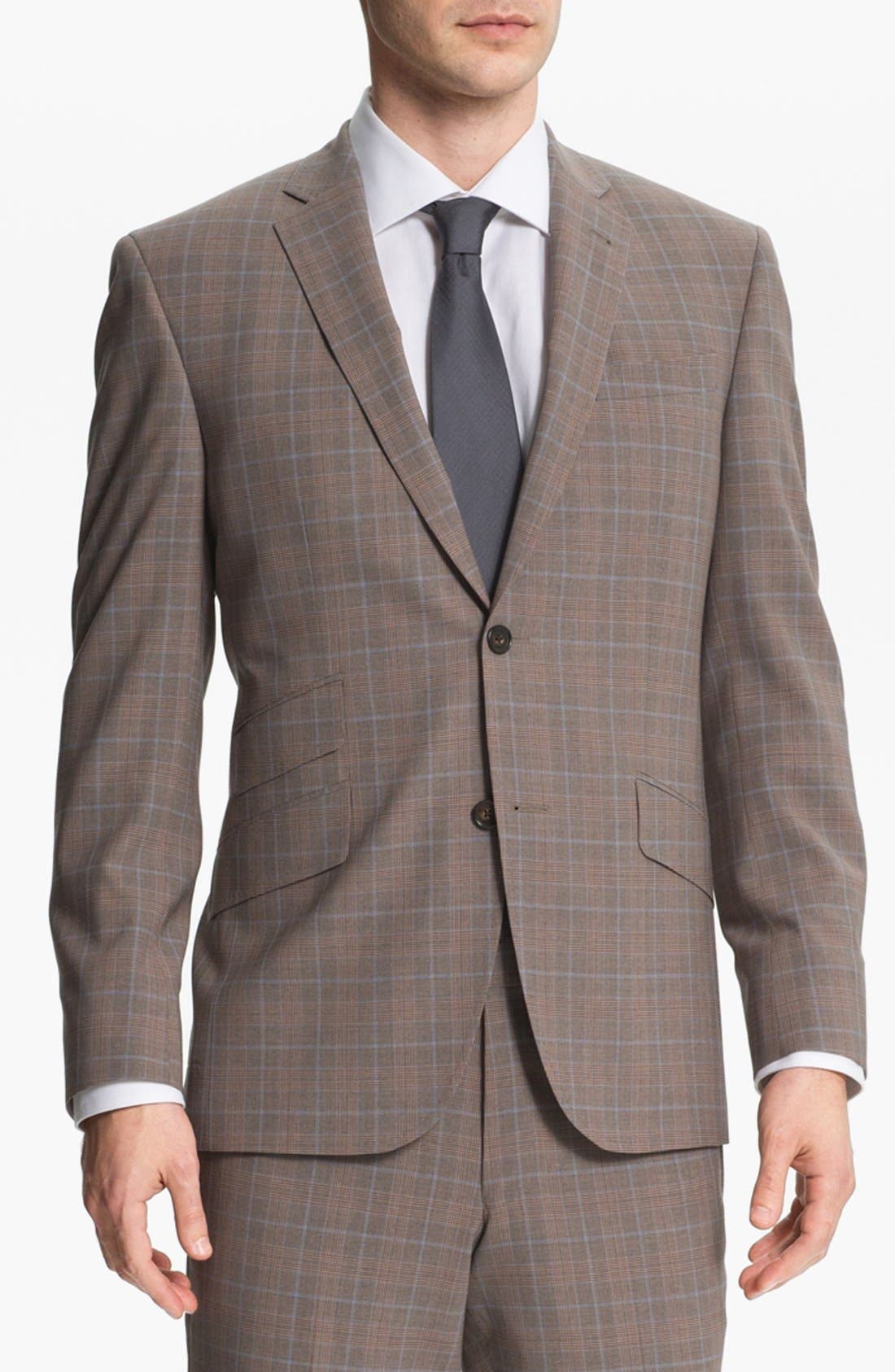 Alternate Image 1 Selected - Ted Baker London Trim Fit Plaid Suit