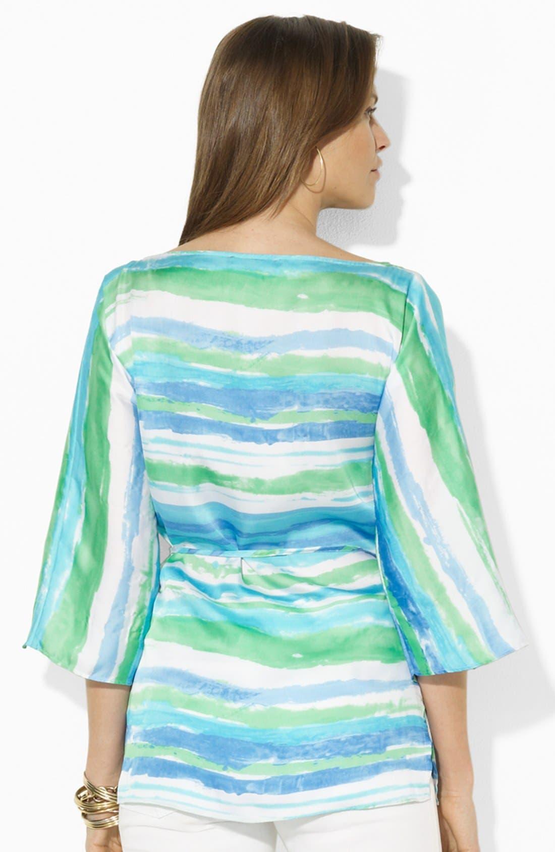 Alternate Image 2  - Lauren Ralph Lauren Print Georgette Tunic
