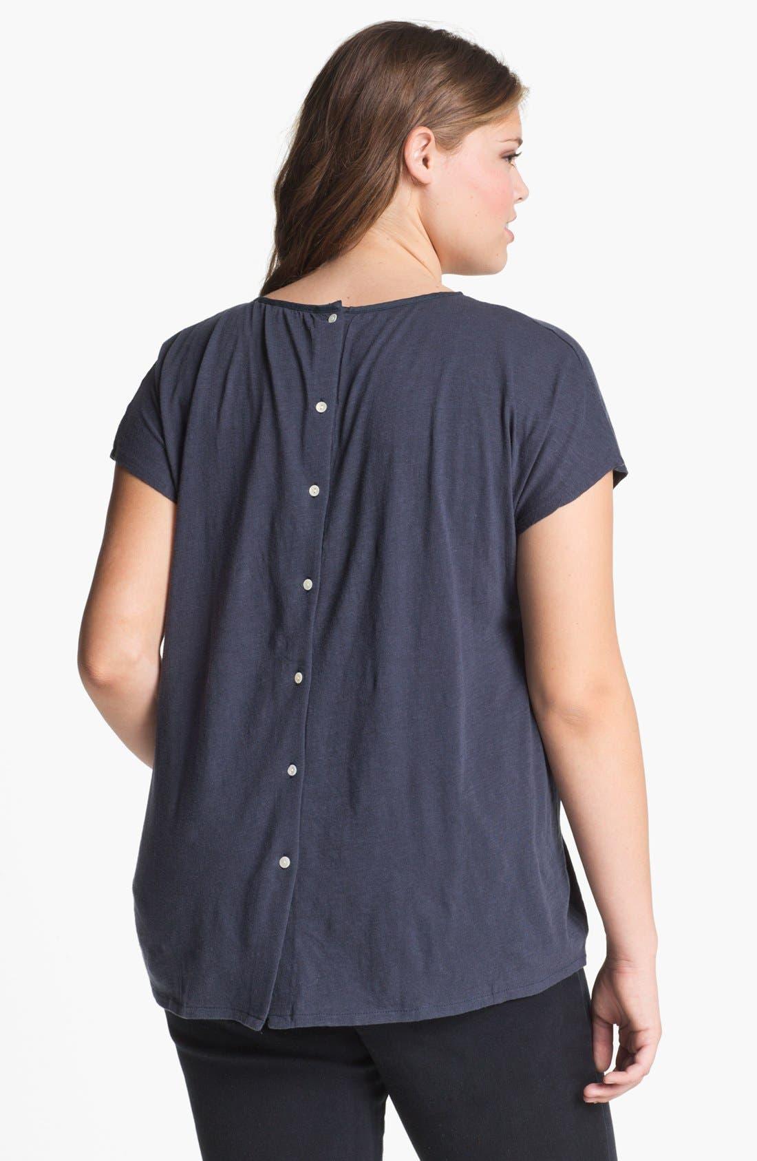 Alternate Image 2  - Lucky Brand 'Lillian' Button Back Tee (Plus)