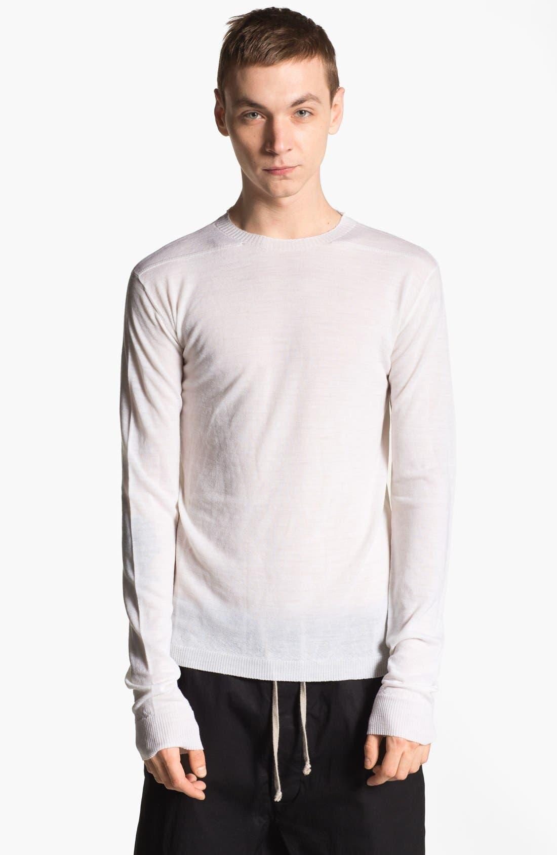 Alternate Image 1 Selected - Rick Owens 'Island' Crewneck Merino Wool Sweater