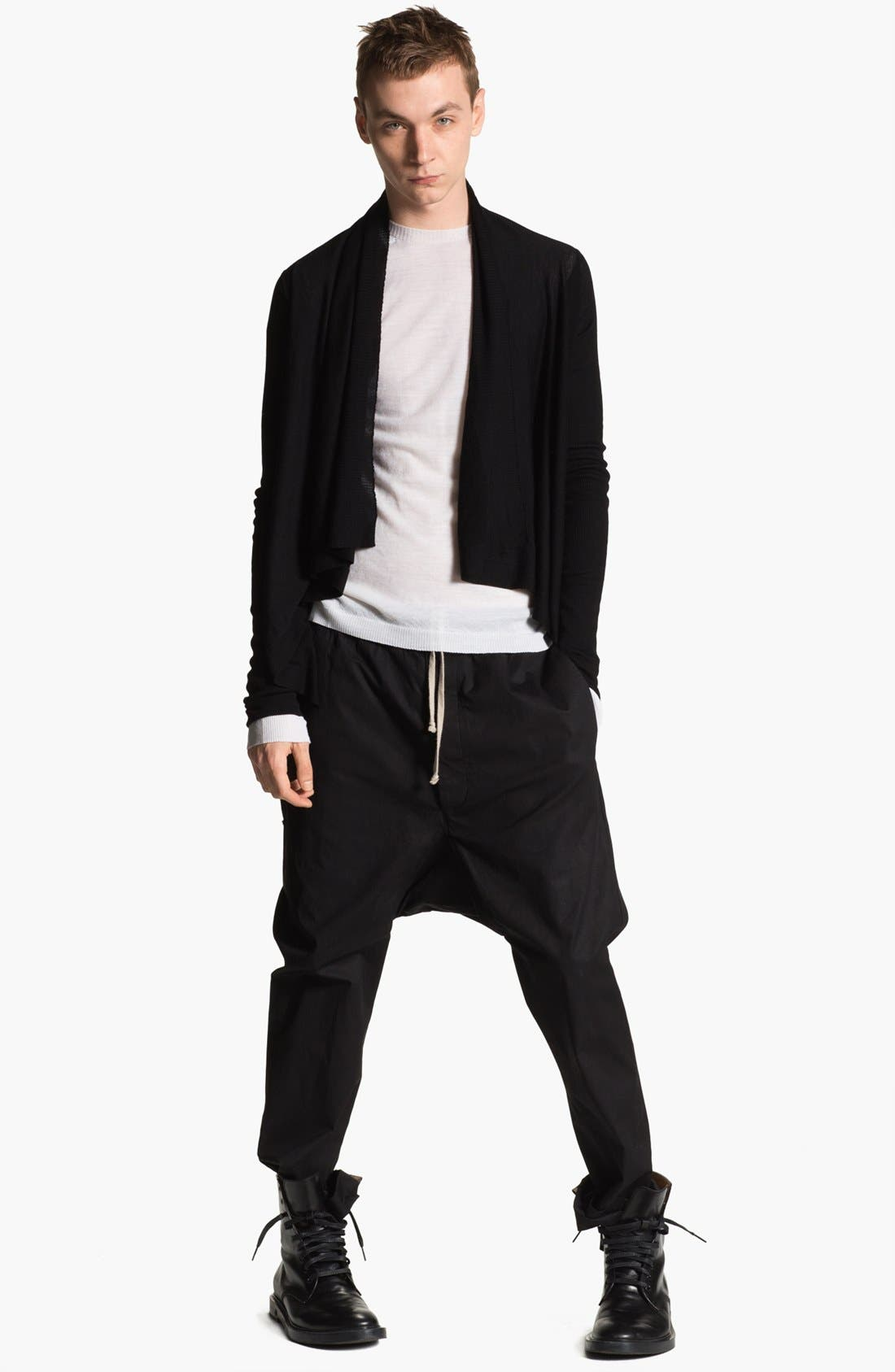 Alternate Image 4  - Rick Owens 'Island' Open Shawl Collar Sweater