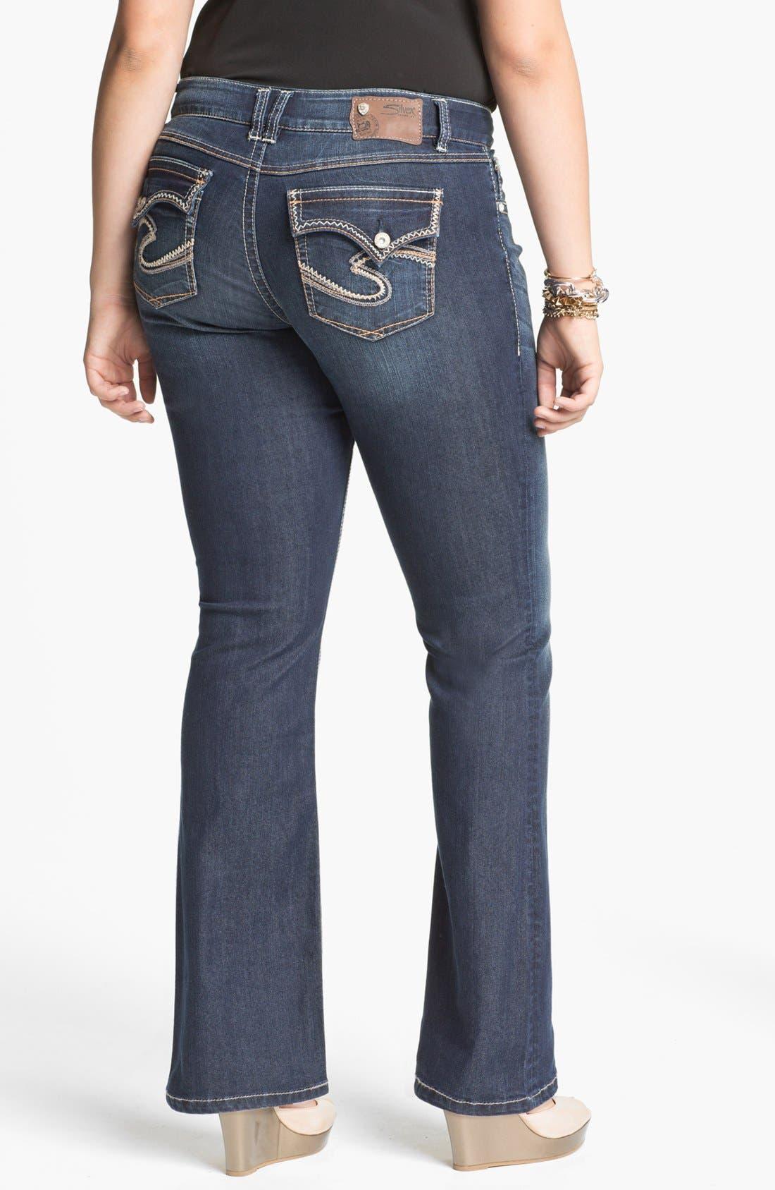 Alternate Image 2  - Silver Jeans Co. 'Dawson' Bootcut Jeans (Juniors Plus)