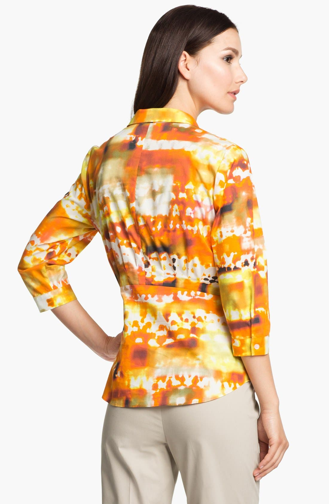Alternate Image 2  - Lafayette 148 New York 'Sabrina - Expedition Stretch' Blouse