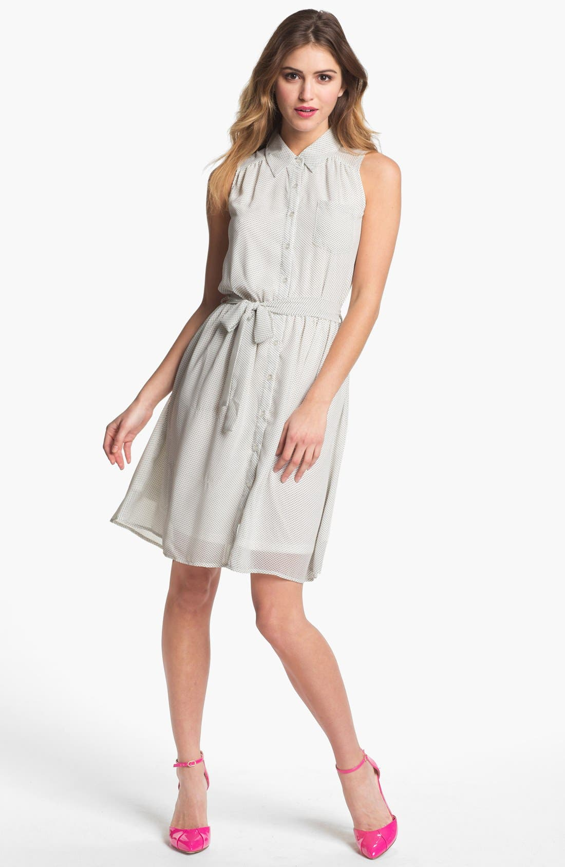 Alternate Image 1 Selected - Press Sleeveless Shirtdress (Online Only)