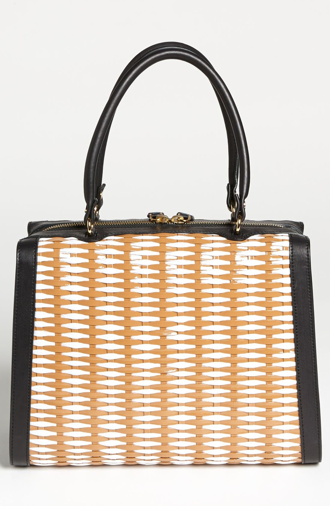 Alternate Image 3  - Marni Woven Leather & Raffia Satchel