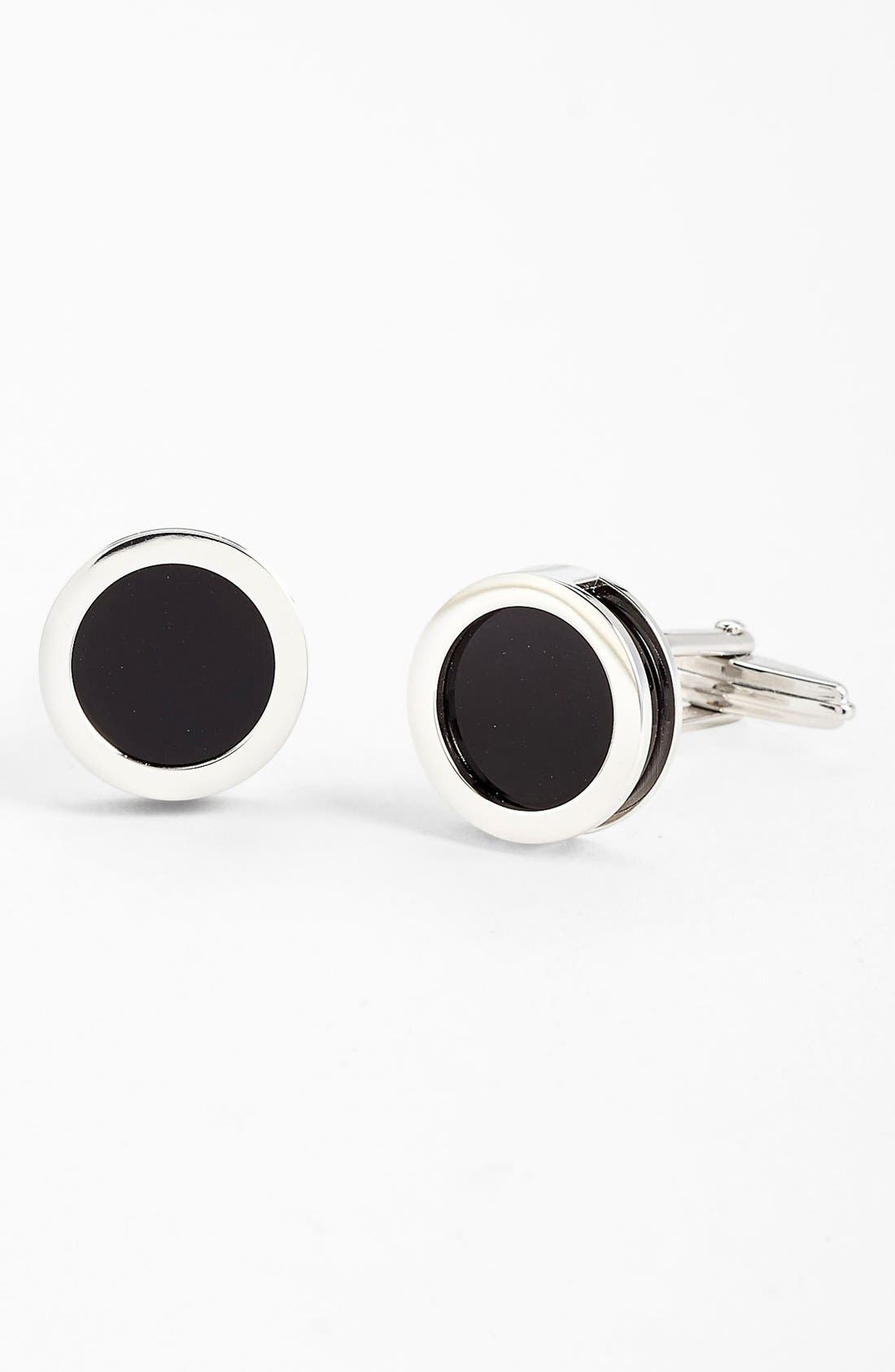 Main Image - Lanvin Interchangeable Onyx & Mother-of-Pearl Cuff Links