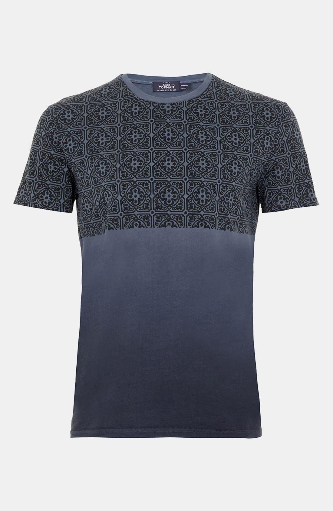 Alternate Image 1 Selected - Topman Dip Dye T-Shirt