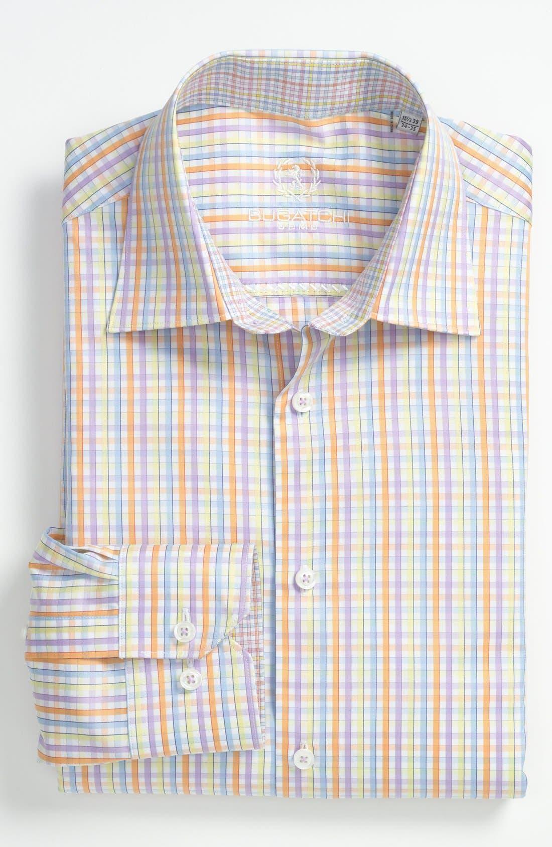 Alternate Image 1 Selected - Bugatchi Uomo Trim Fit Dress Shirt