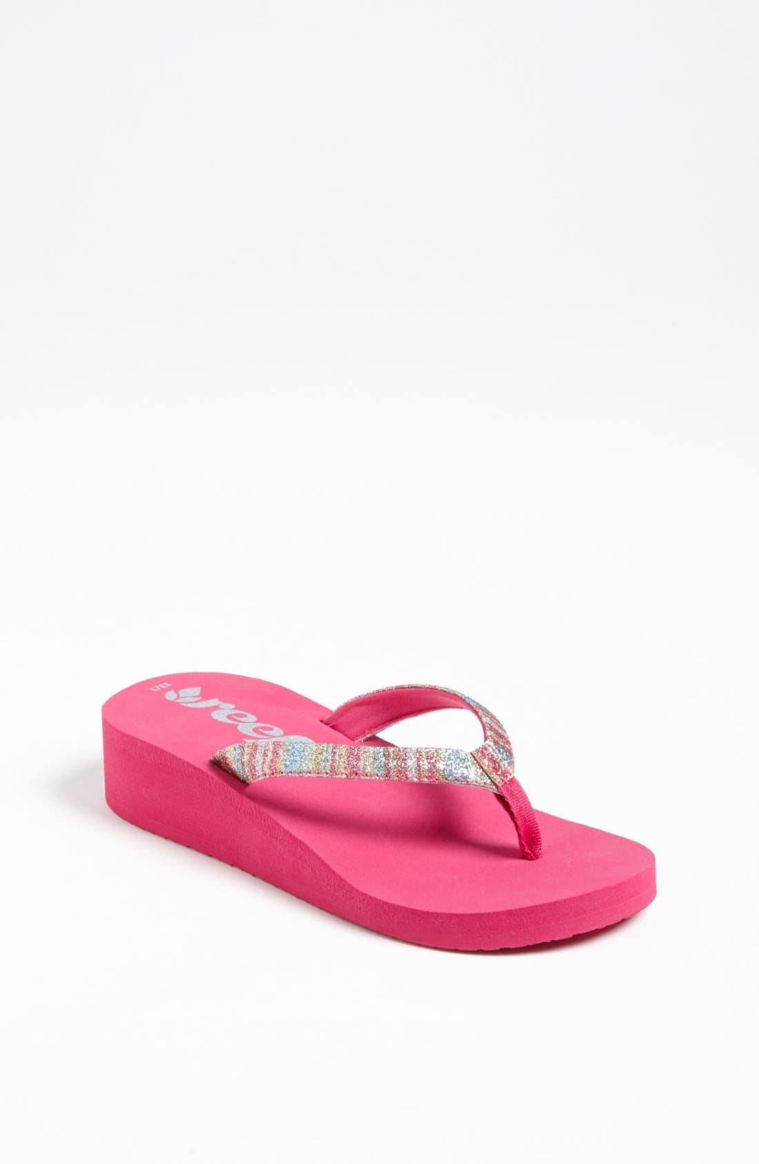 Alternate Image 1 Selected - REEF LITTLE KRYSTAL STAR LUXE SANDAL