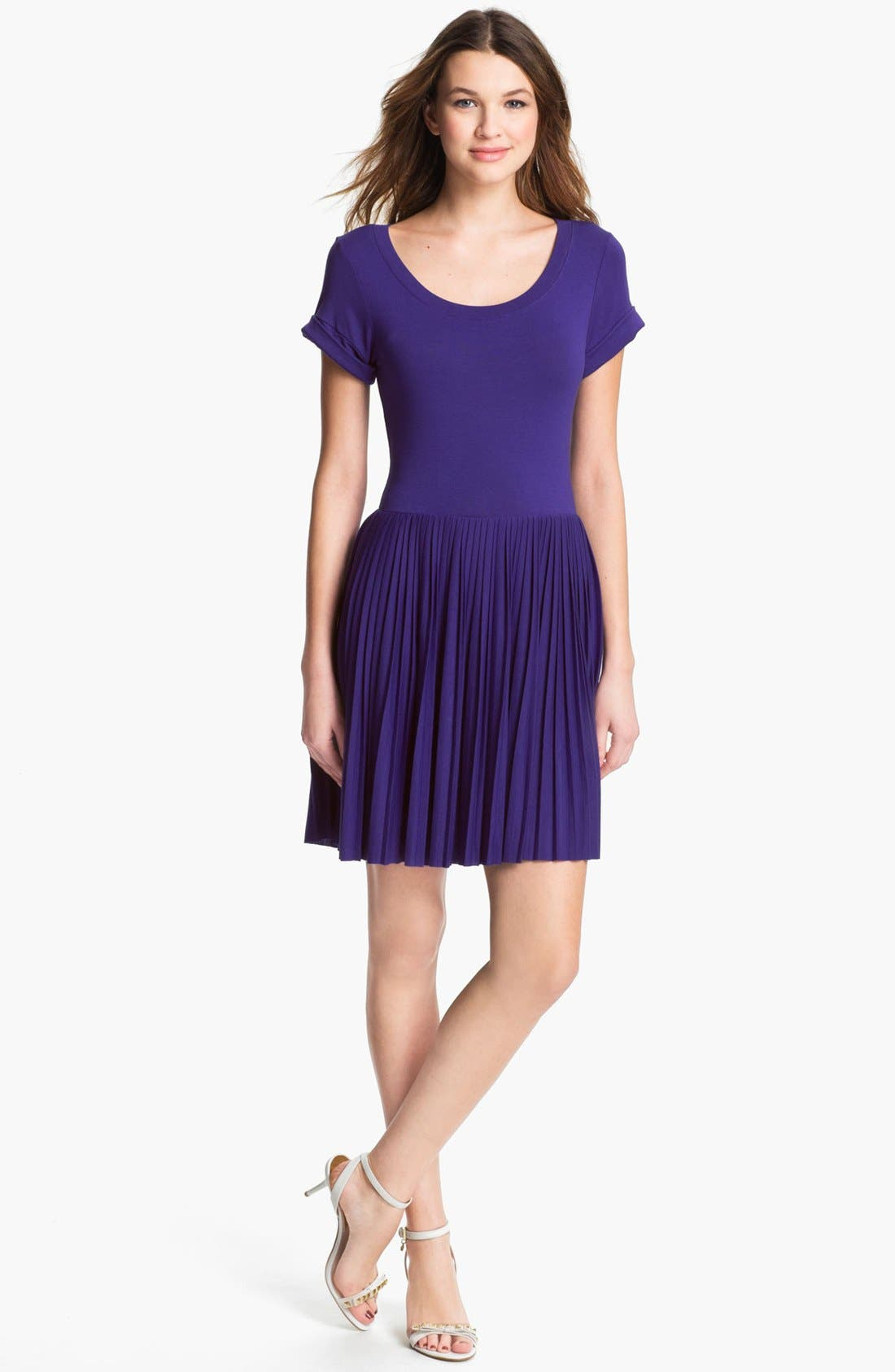 Main Image - French Connection 'Penny' Pleated Jersey Dress