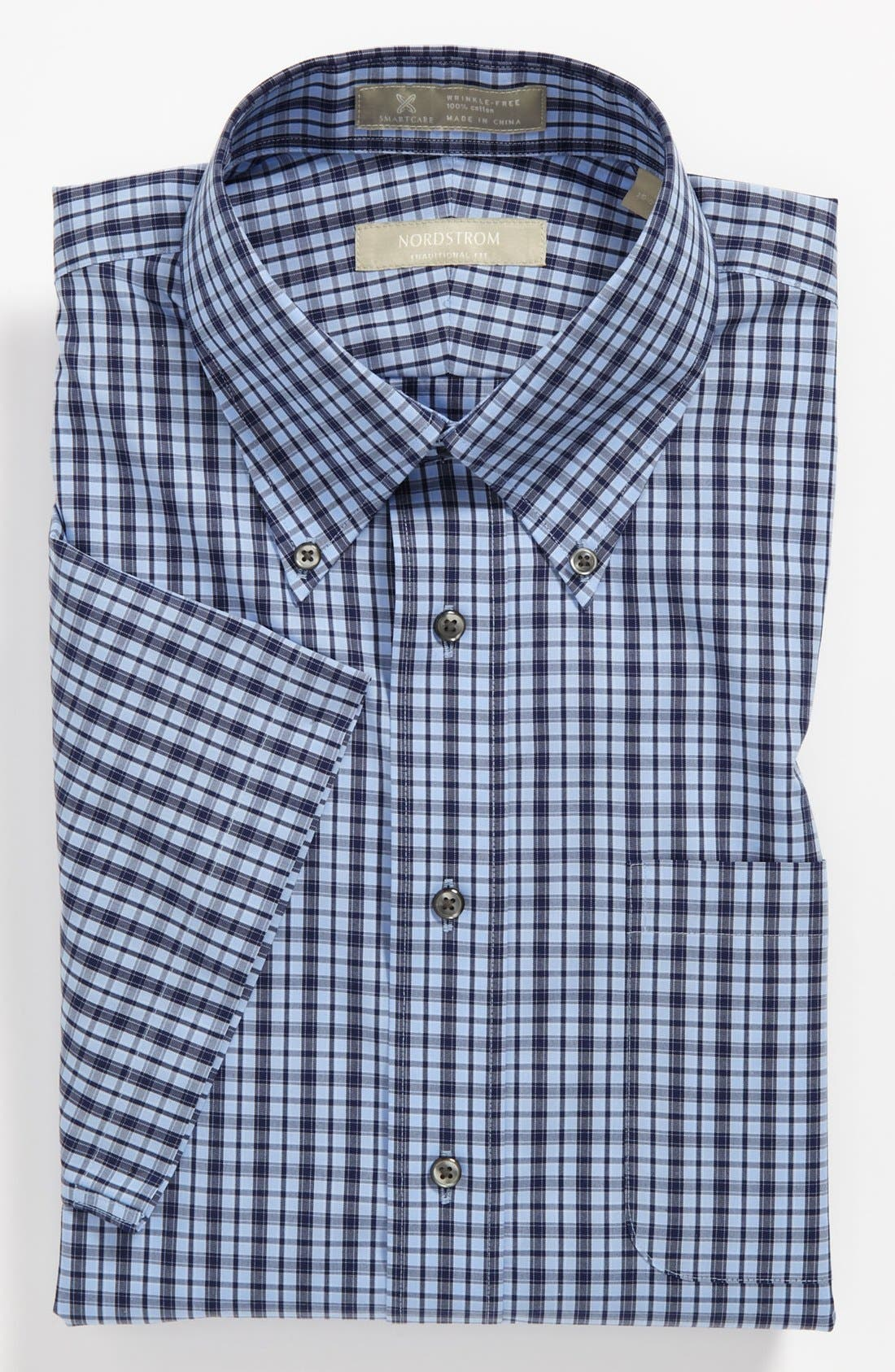 Main Image - Nordstrom Smartcare™ Wrinkle Free Traditional Fit Short Sleeve Dress Shirt