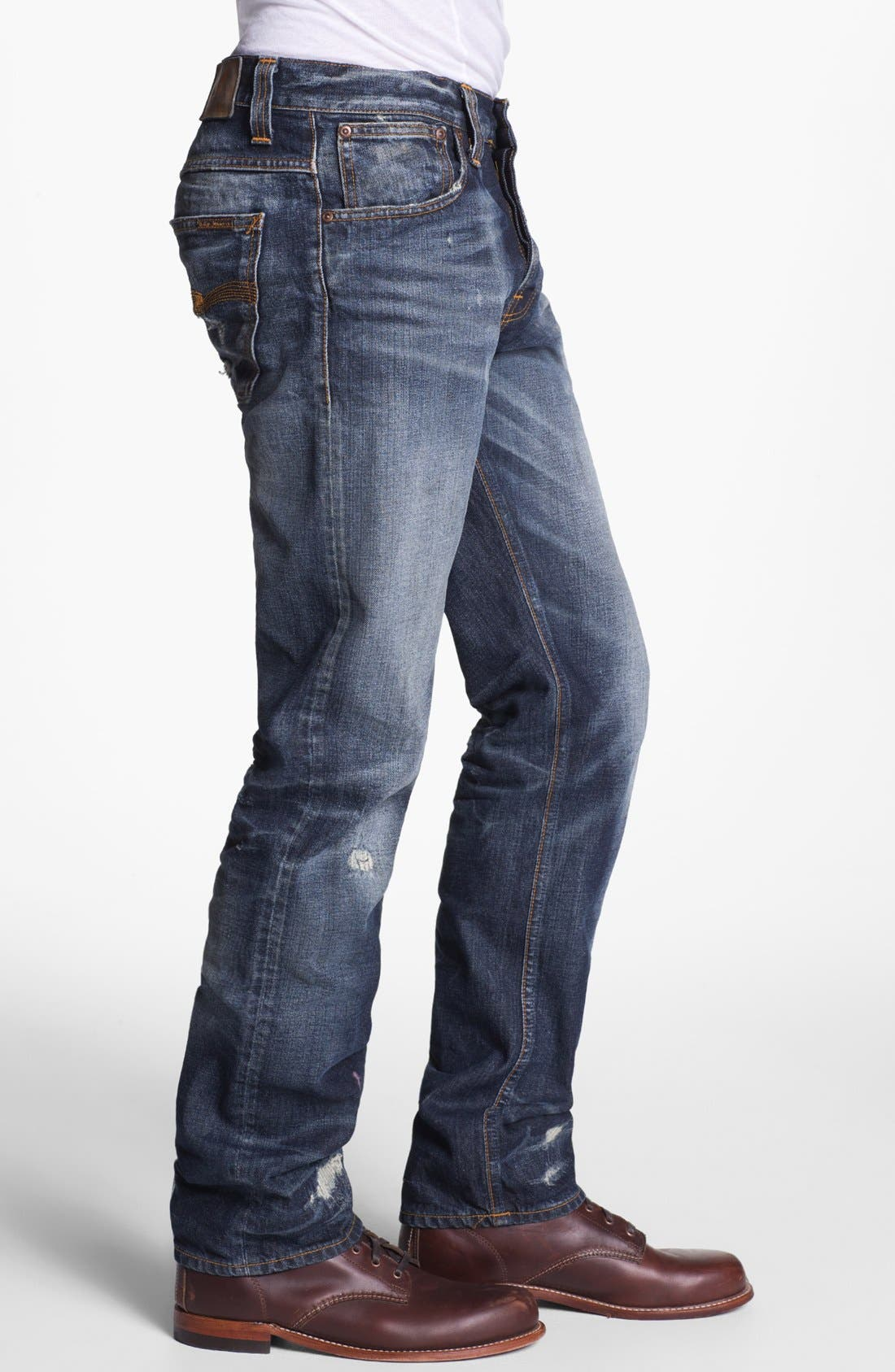 Alternate Image 3  - Nudie 'Alf' Slim Straight Leg Jeans (Organic Larry Replica)
