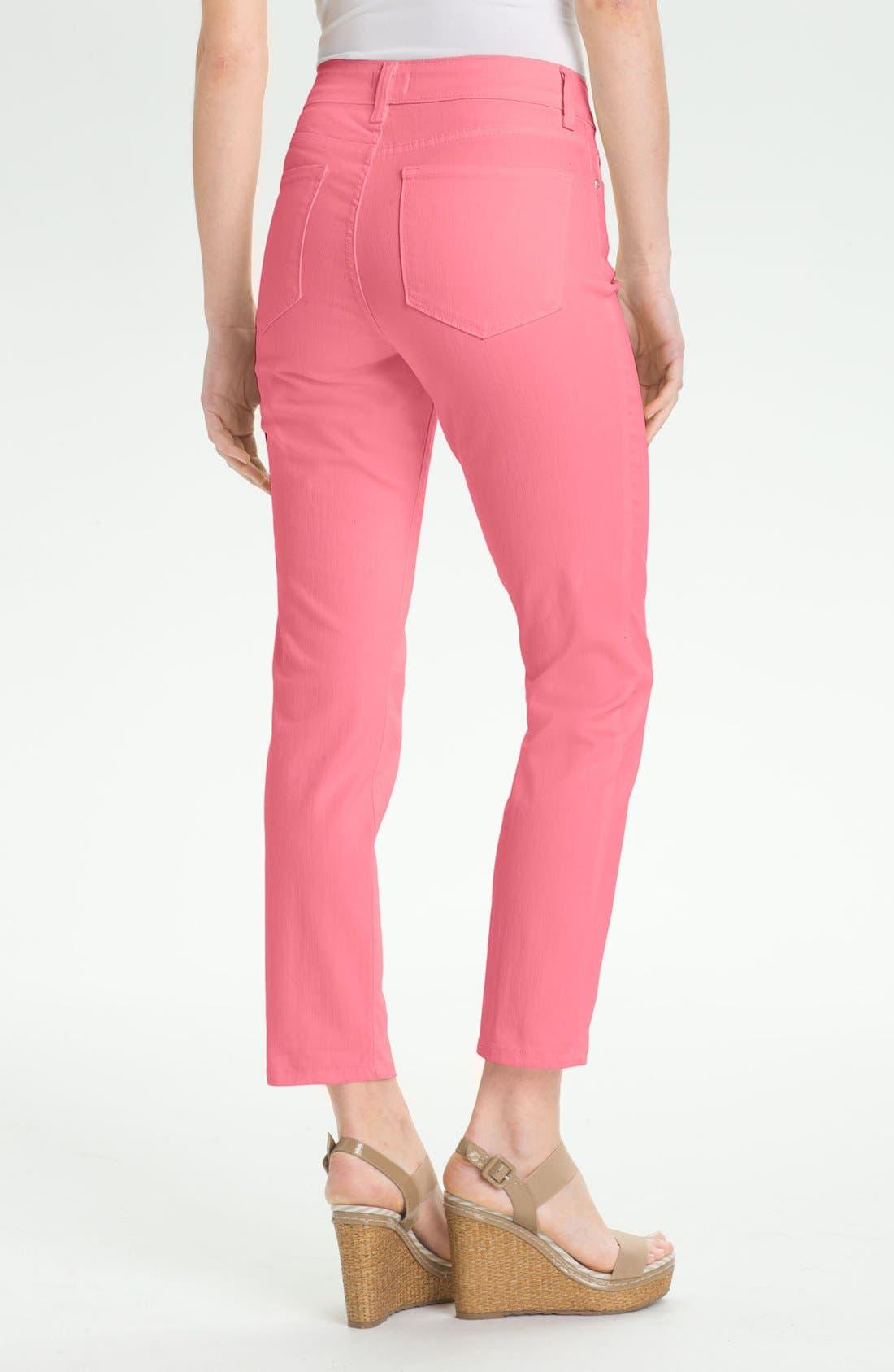 Alternate Image 2  - NYDJ 'Alisha' Skinny Stretch Ankle Jeans (Petite)