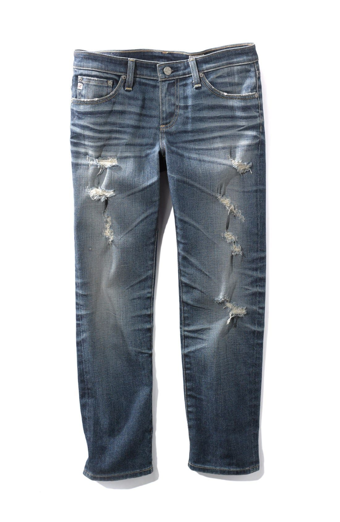 Alternate Image 5  - AG Jeans 'Stilt' Crop Skinny Jeans (15-Year Shred)