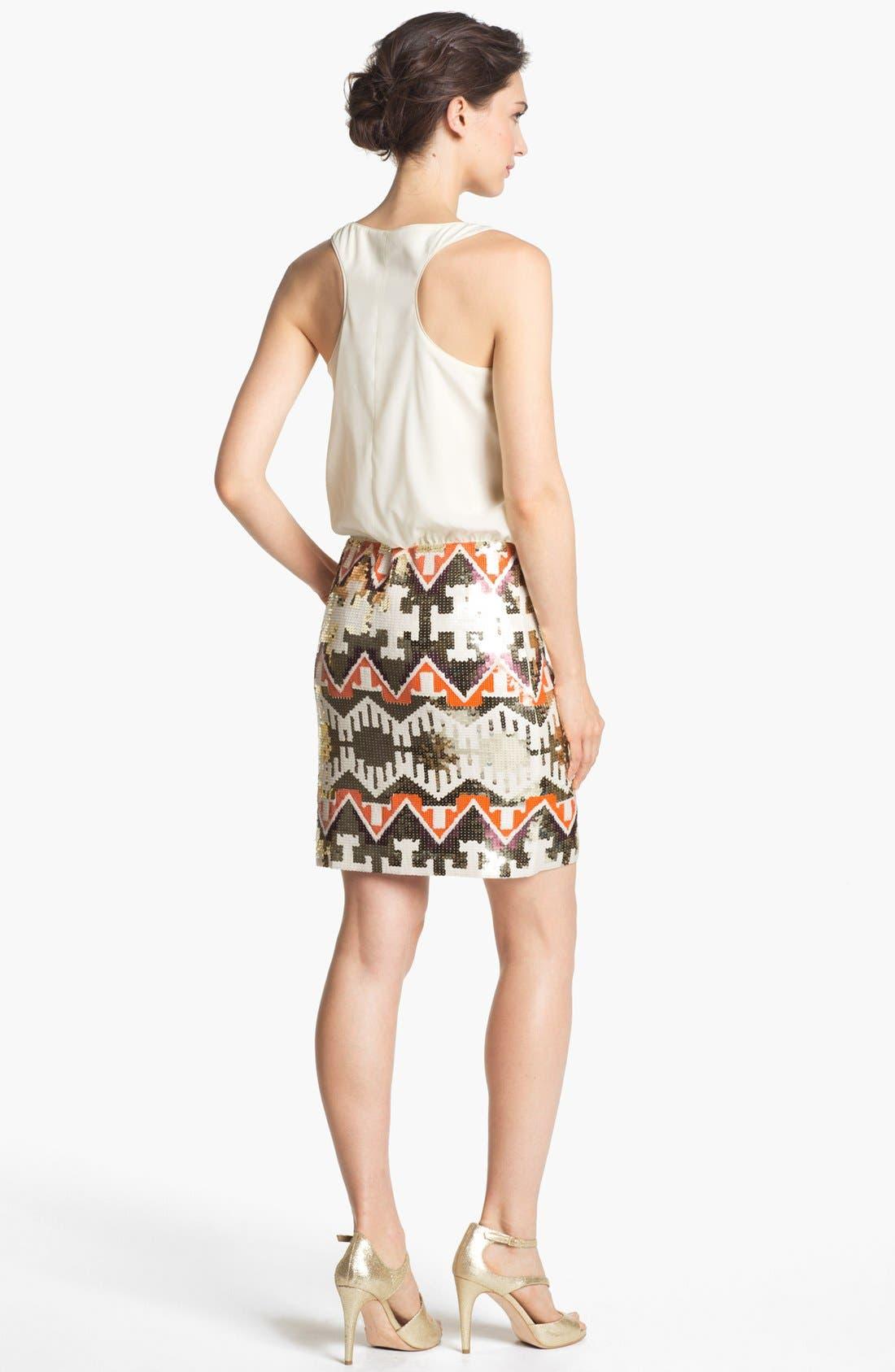 Alternate Image 2  - Jessica Simpson Racerback Blouson Sequin Skirt Dress