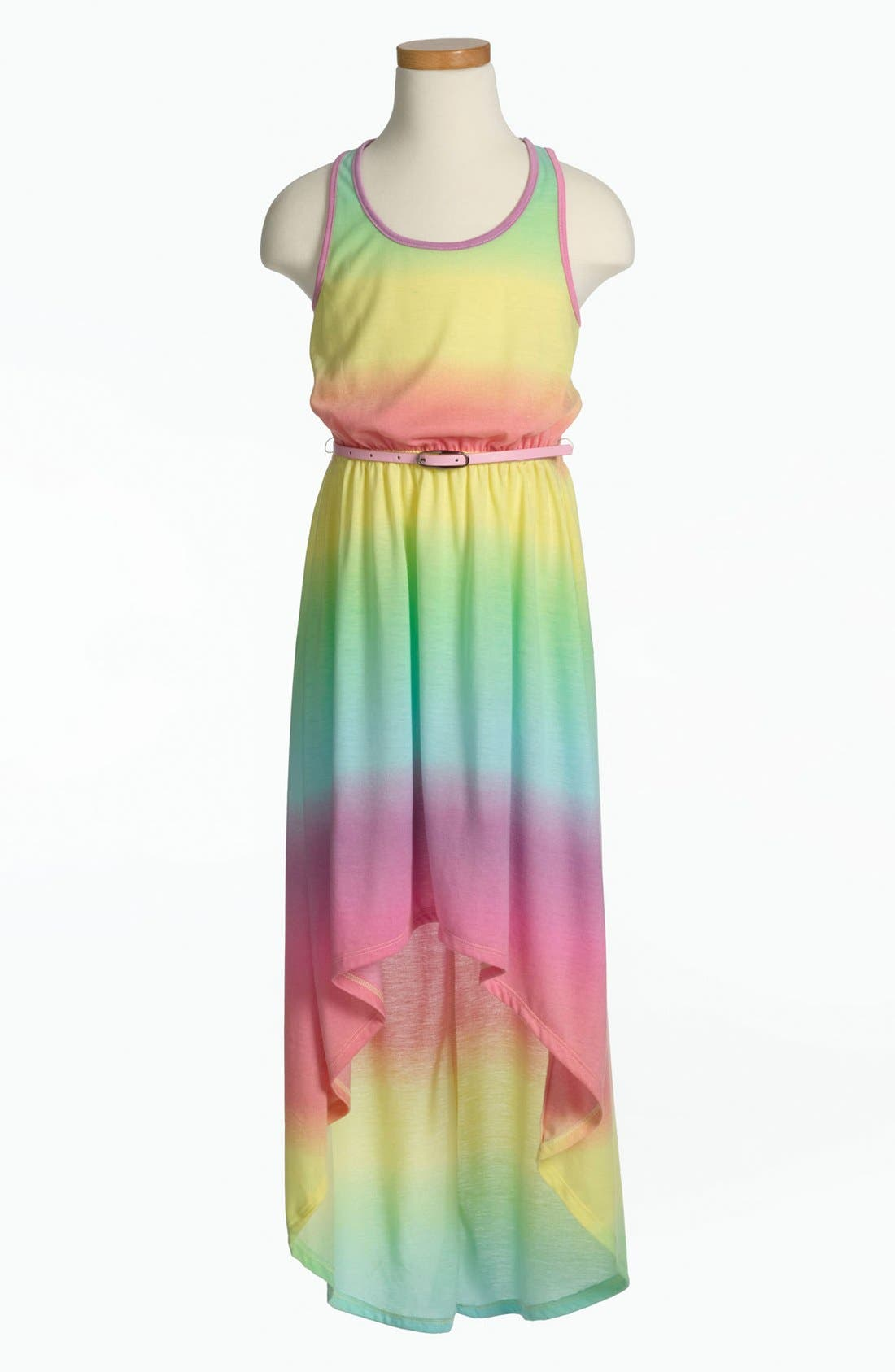 Alternate Image 1 Selected - Fire Tie Dye Dress (Little Girls & Big Girls)