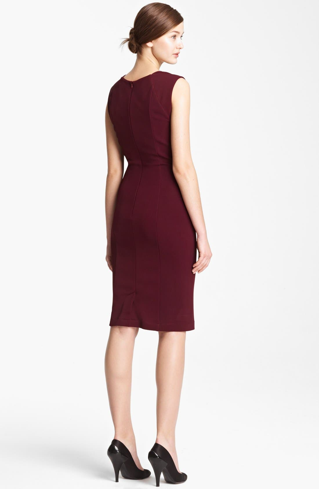 Alternate Image 2  - Donna Karan Draped Crepe Jersey Dress