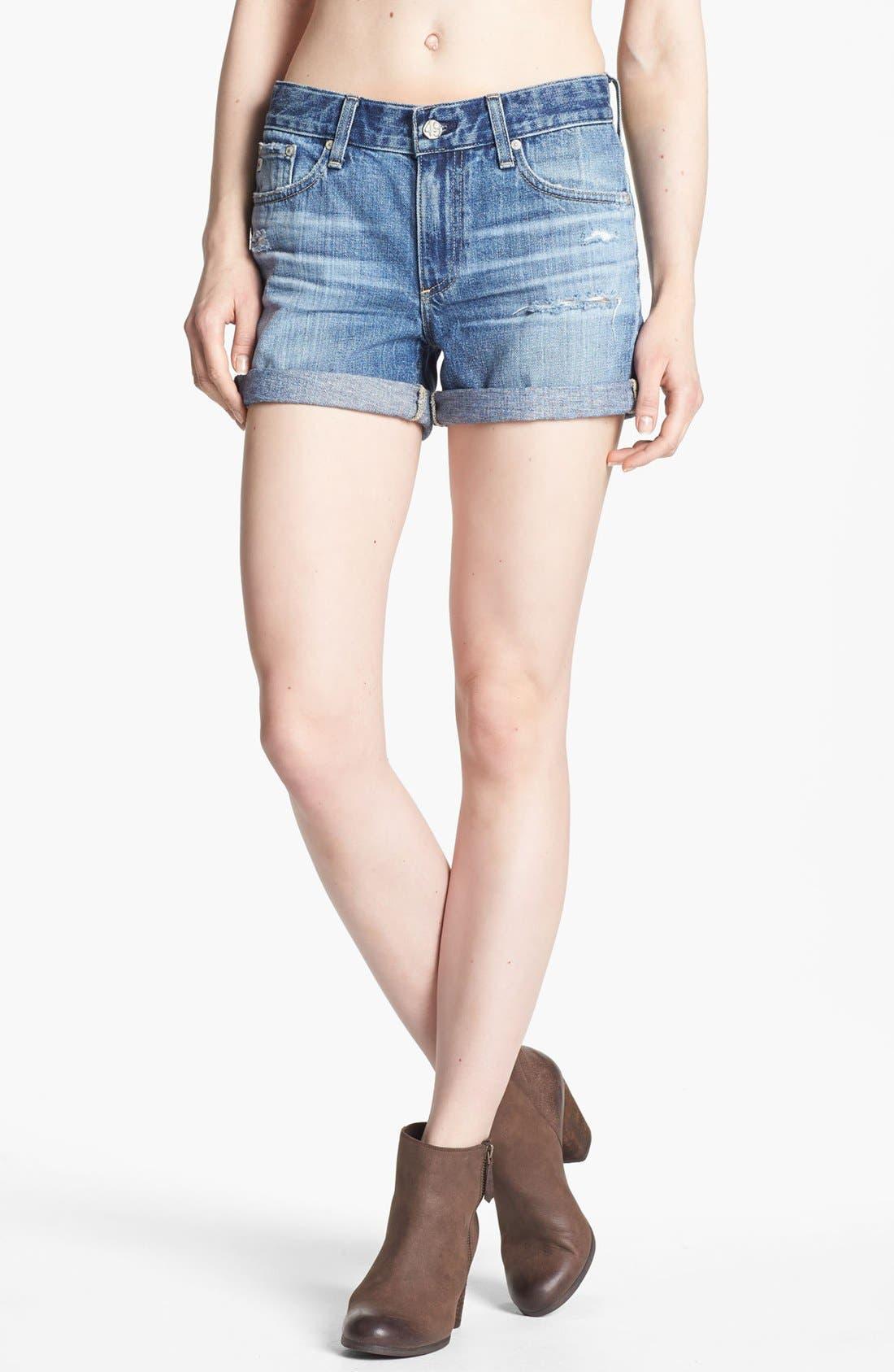 Main Image - AG Jeans 'Hailey' Cuff Denim Shorts (15 Year Wash)