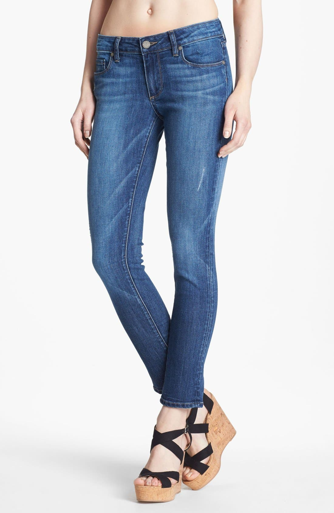 Alternate Image 1 Selected - Paige Denim 'Skyline' Ankle Peg Skinny Stretch Jeans (Penelope)