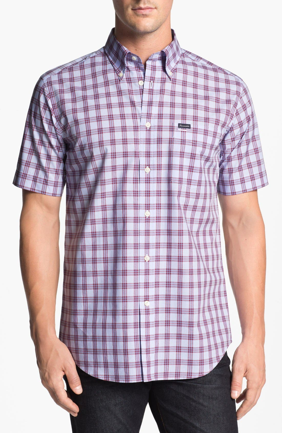 Alternate Image 1 Selected - Façonnable Club Fit Short Sleeve Sport Shirt