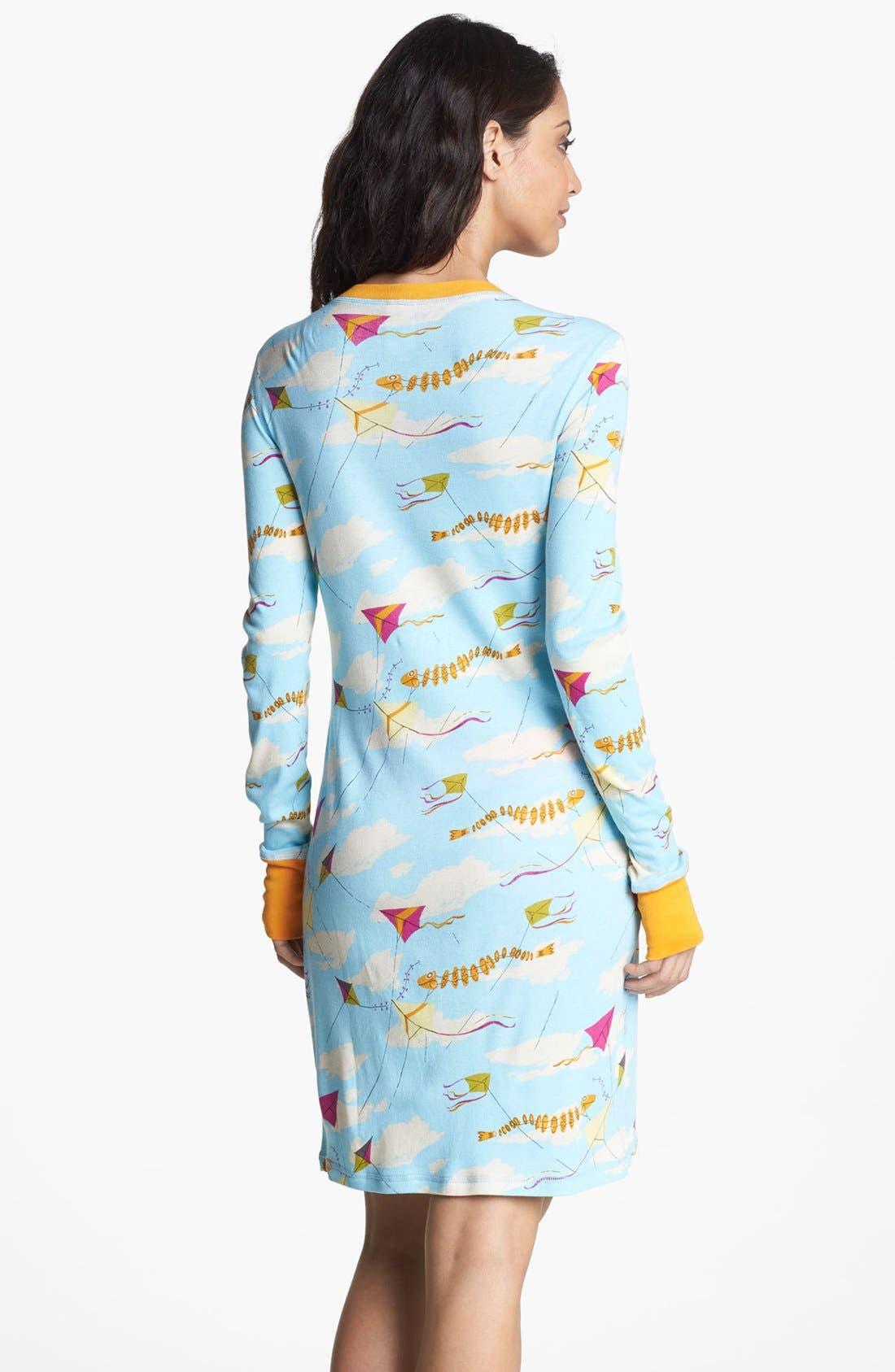 Alternate Image 2  - Munki Munki Print Henley Sleep Shirt