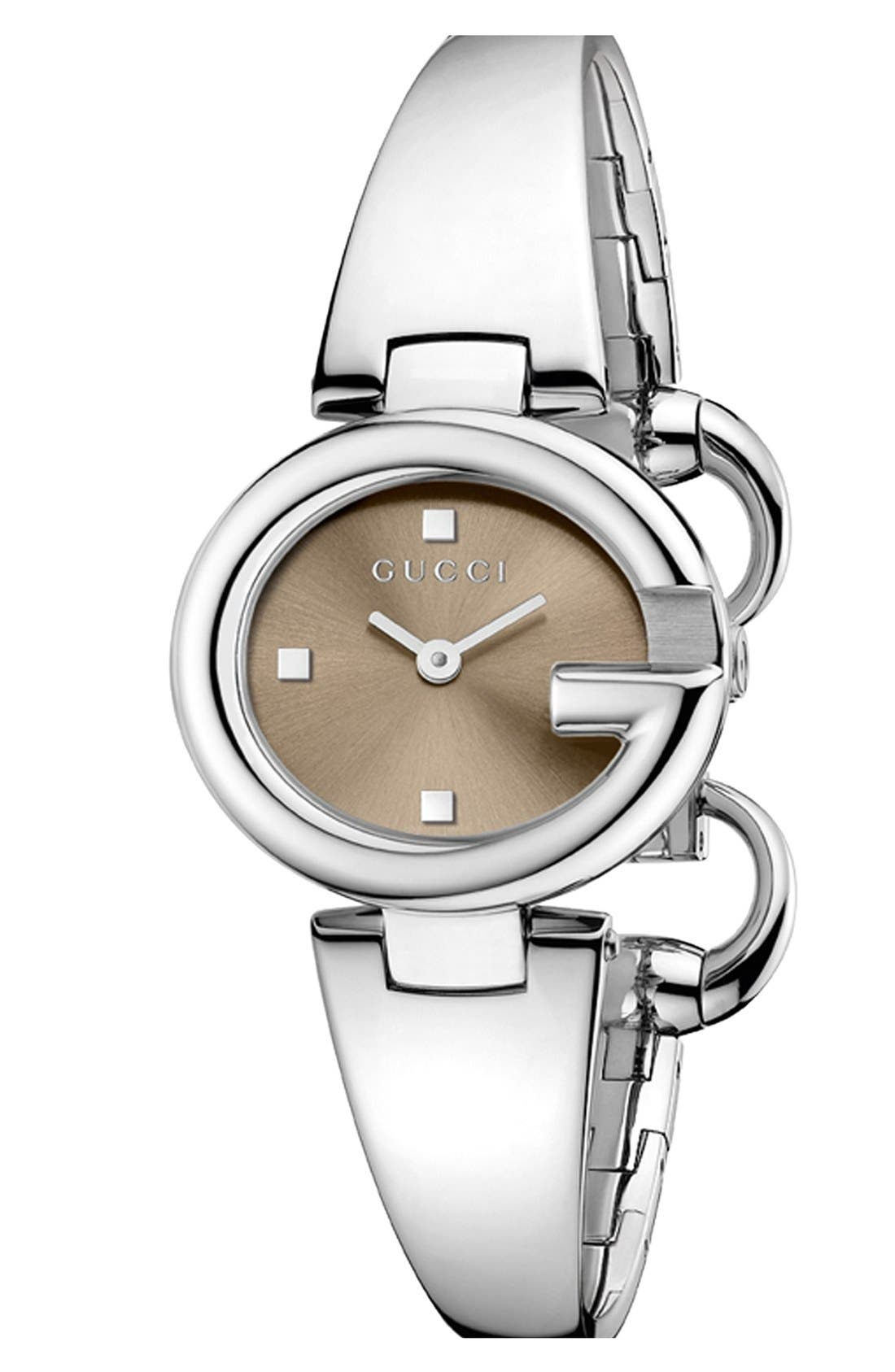 Alternate Image 1 Selected - Gucci 'Guccissima' Bangle Watch, 27mm