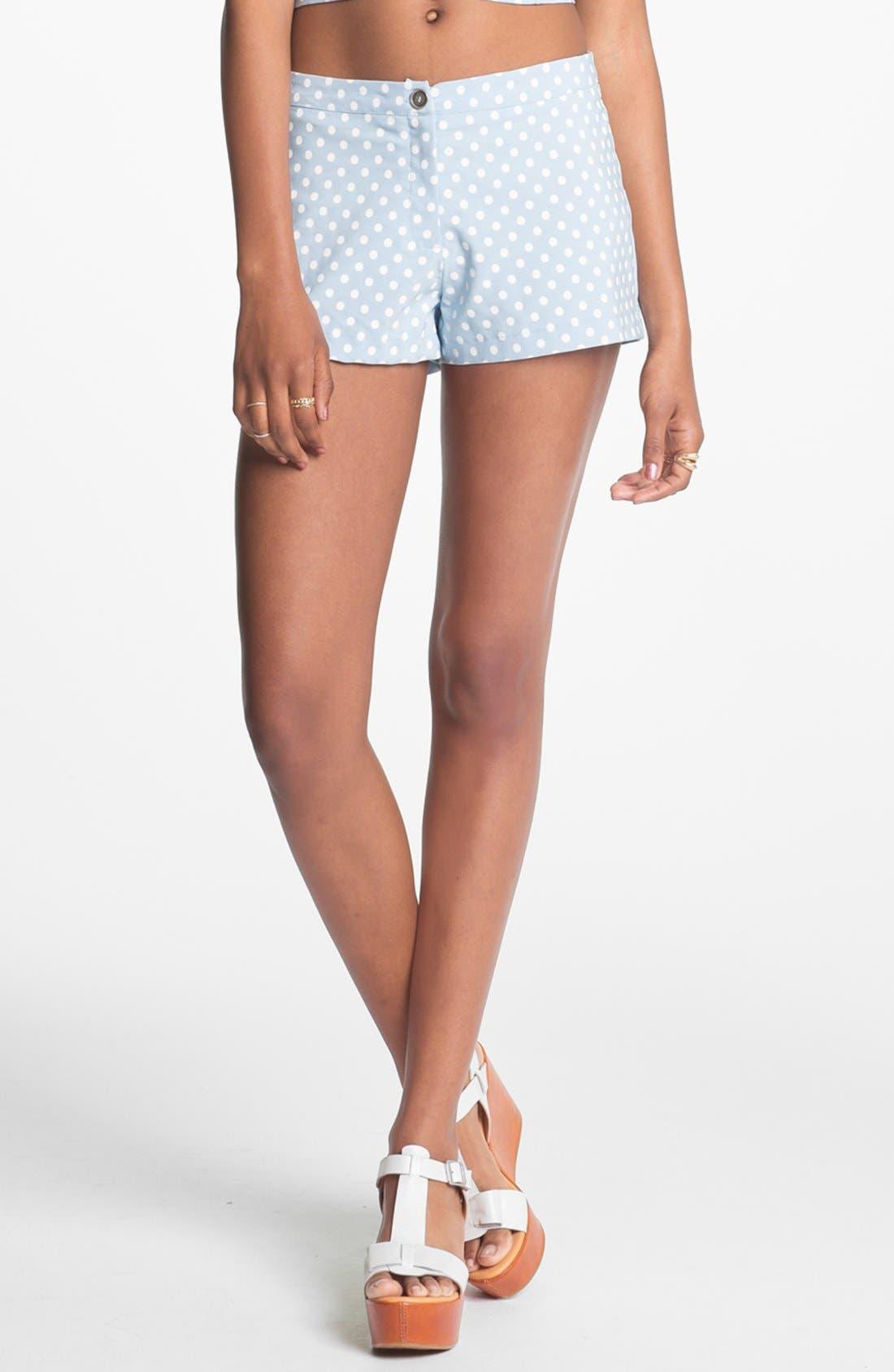 Alternate Image 1 Selected - Living Doll Polka Dot Shorts (Juniors)(Online Only)