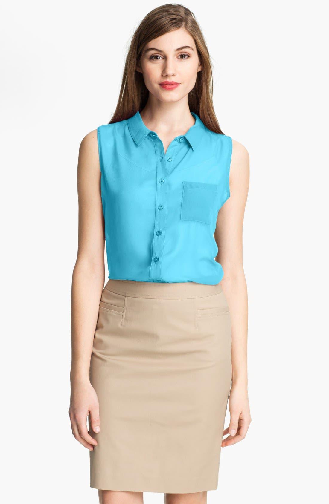 Alternate Image 1 Selected - Cielo Sleeveless Sheer Shirt