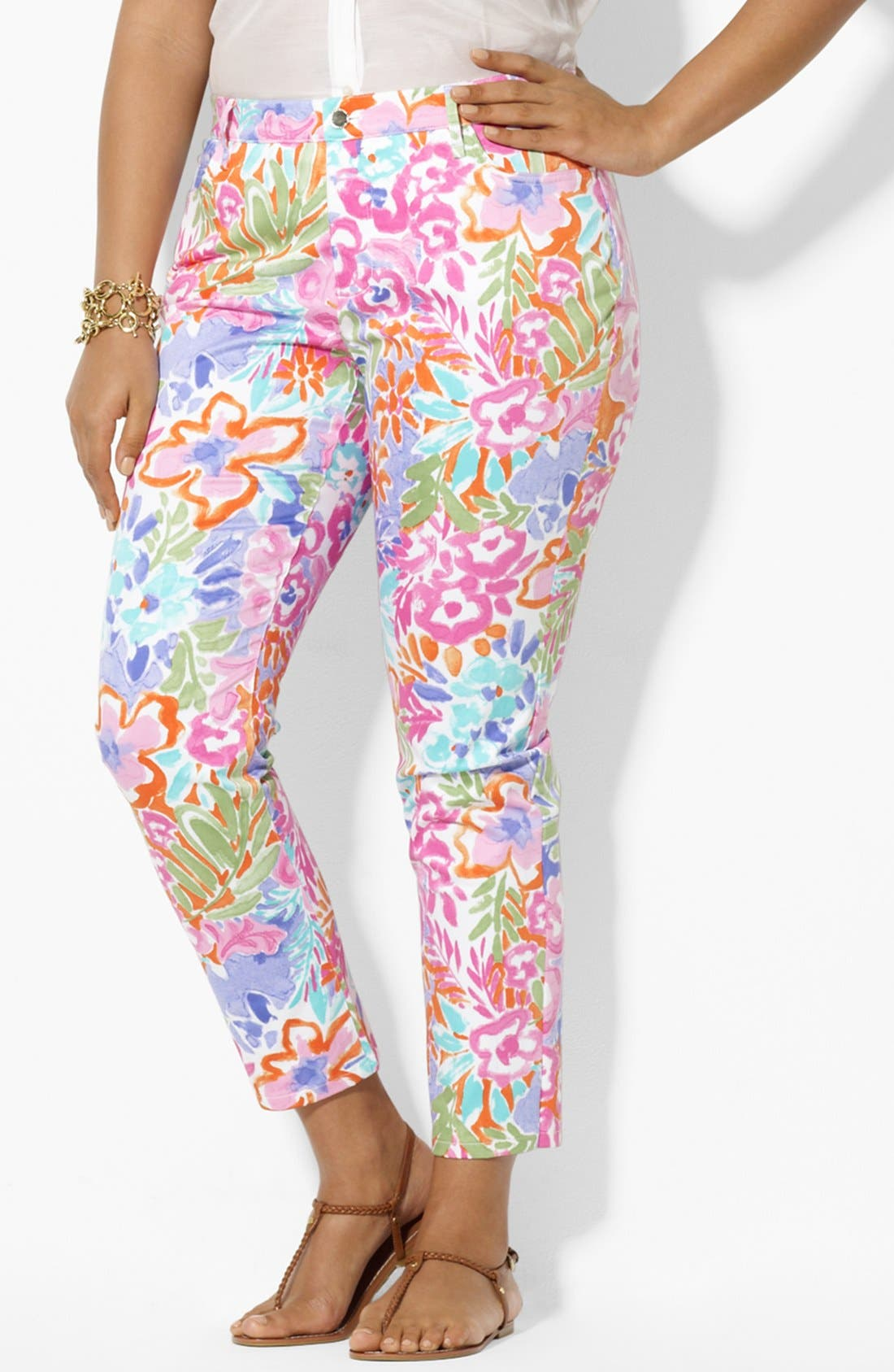 Alternate Image 3  - Lauren Ralph Lauren Modern Skinny Ankle Pants (Plus Size)
