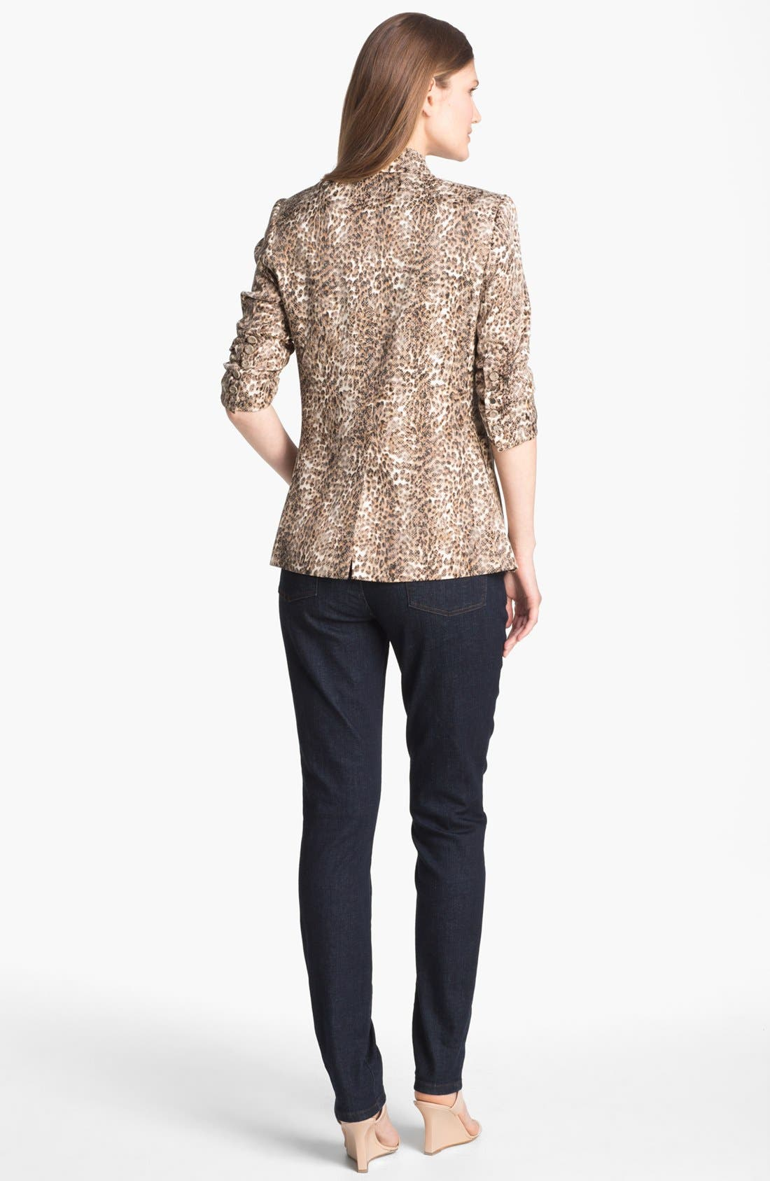Alternate Image 5  - Alberto Makali Ruched Sleeve Cheetah Print Jacket