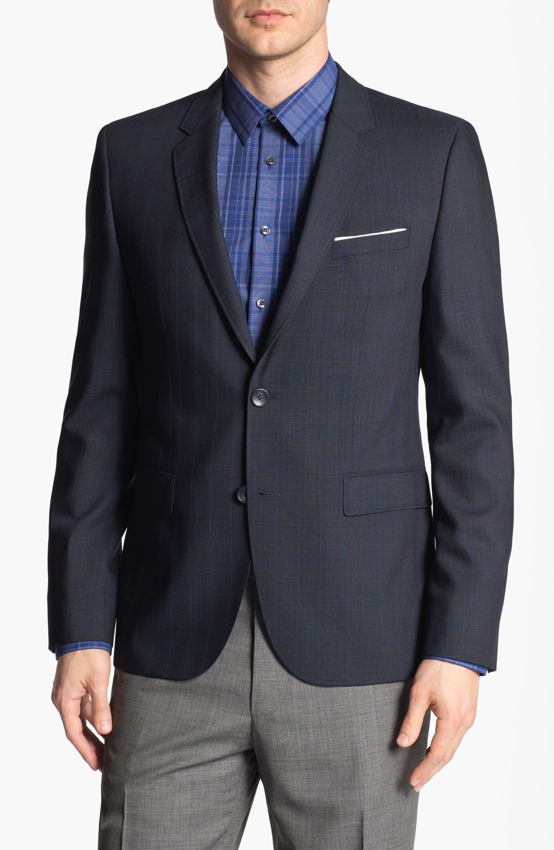 Alternate Image 1 Selected - HUGO 'Aeris' Extra Trim Fit Plaid Sportcoat