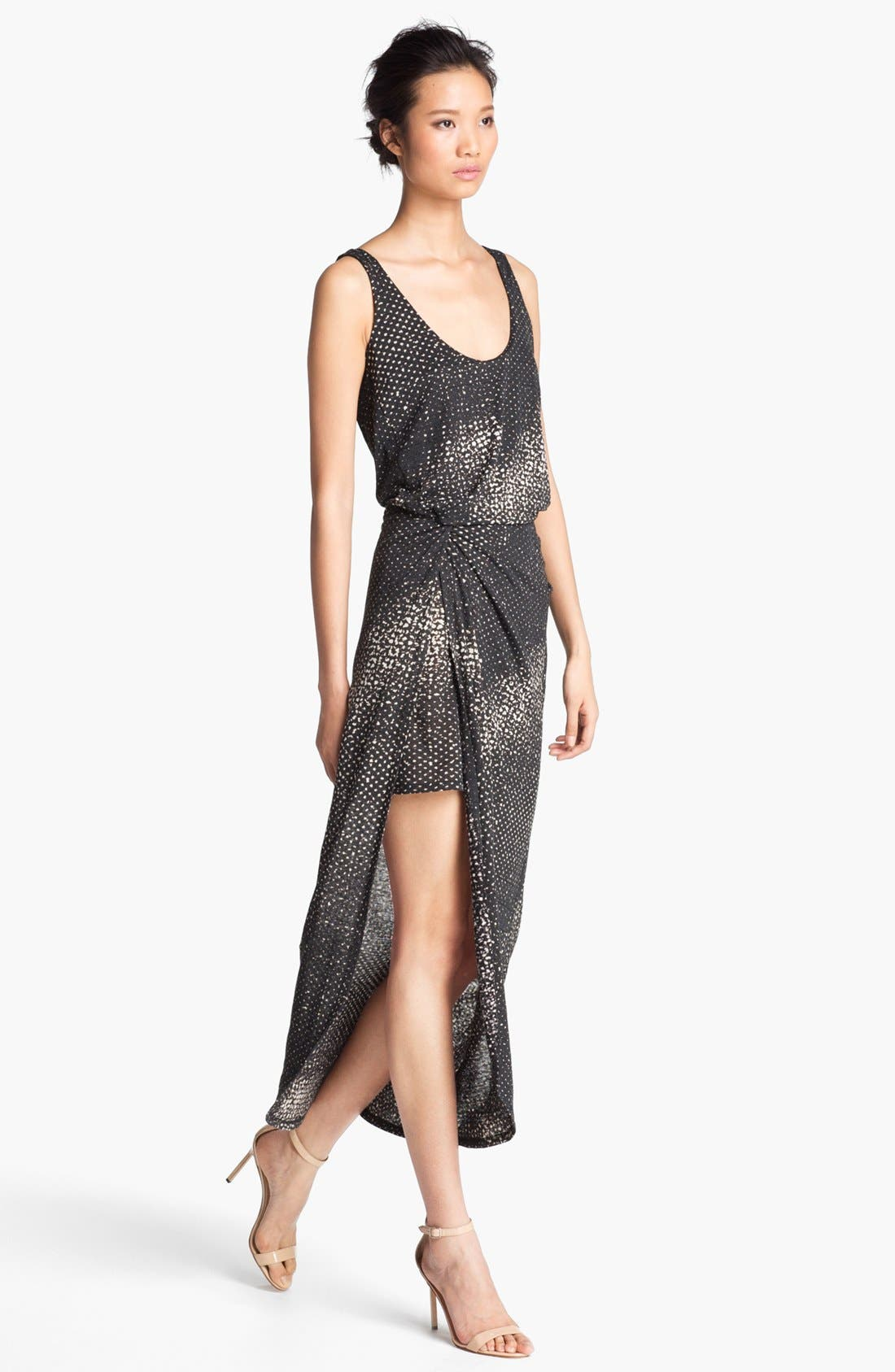 Alternate Image 1 Selected - Halston Heritage Print Linen Tank Dress