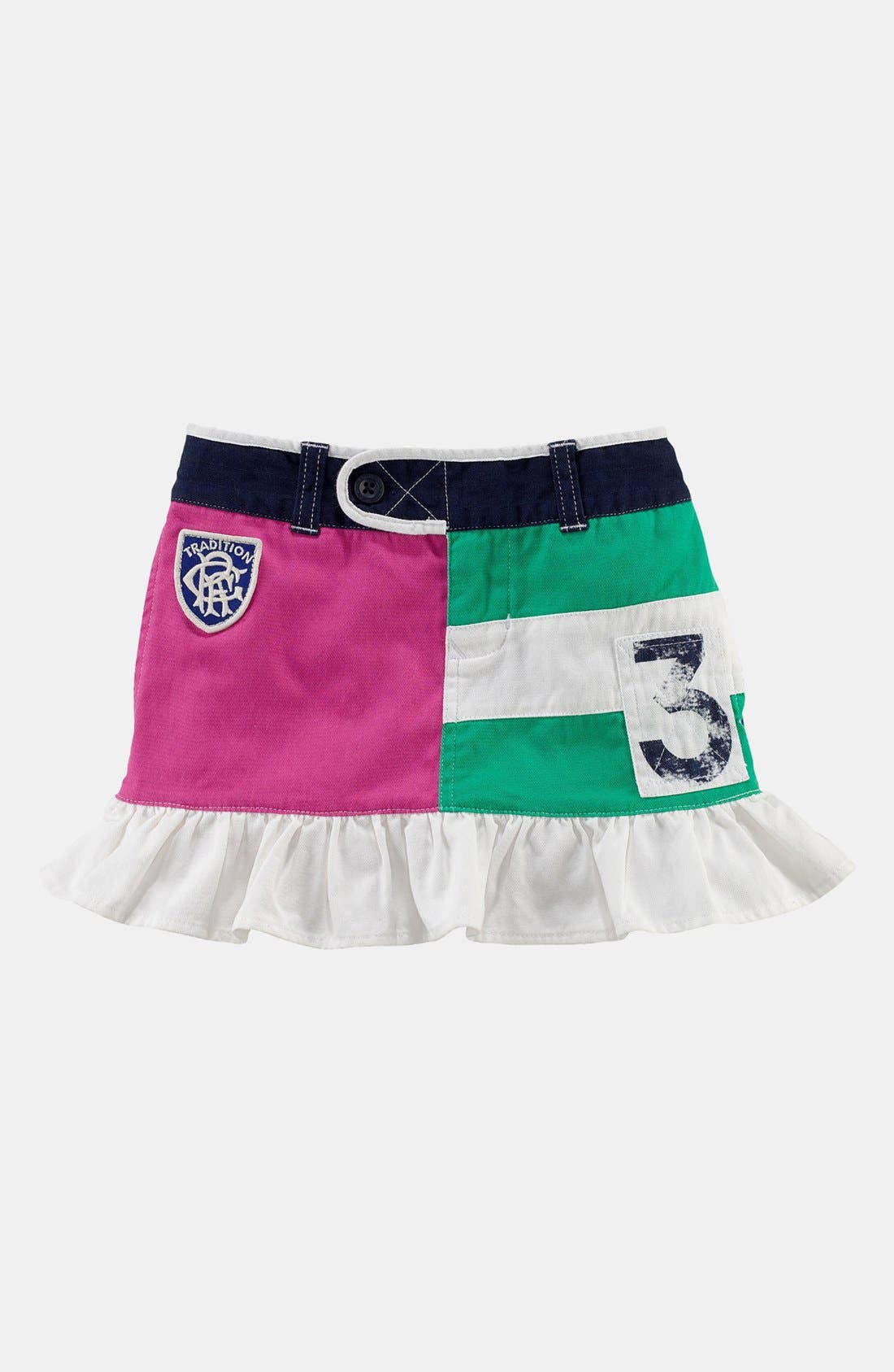 Alternate Image 1 Selected - Ralph Lauren Ruffle Skirt (Toddler)